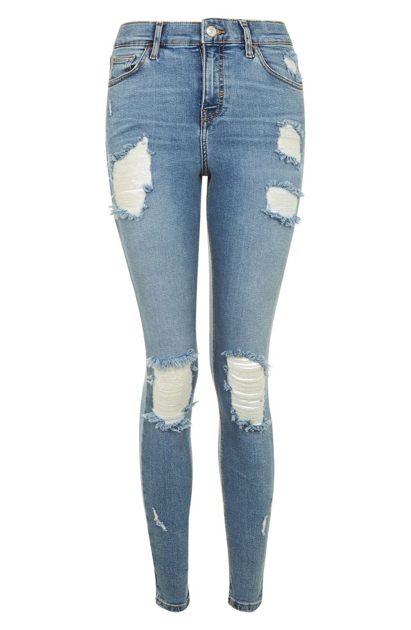 Alternate Image 4  - Topshop Jamie Super Ripped Skinny Jeans