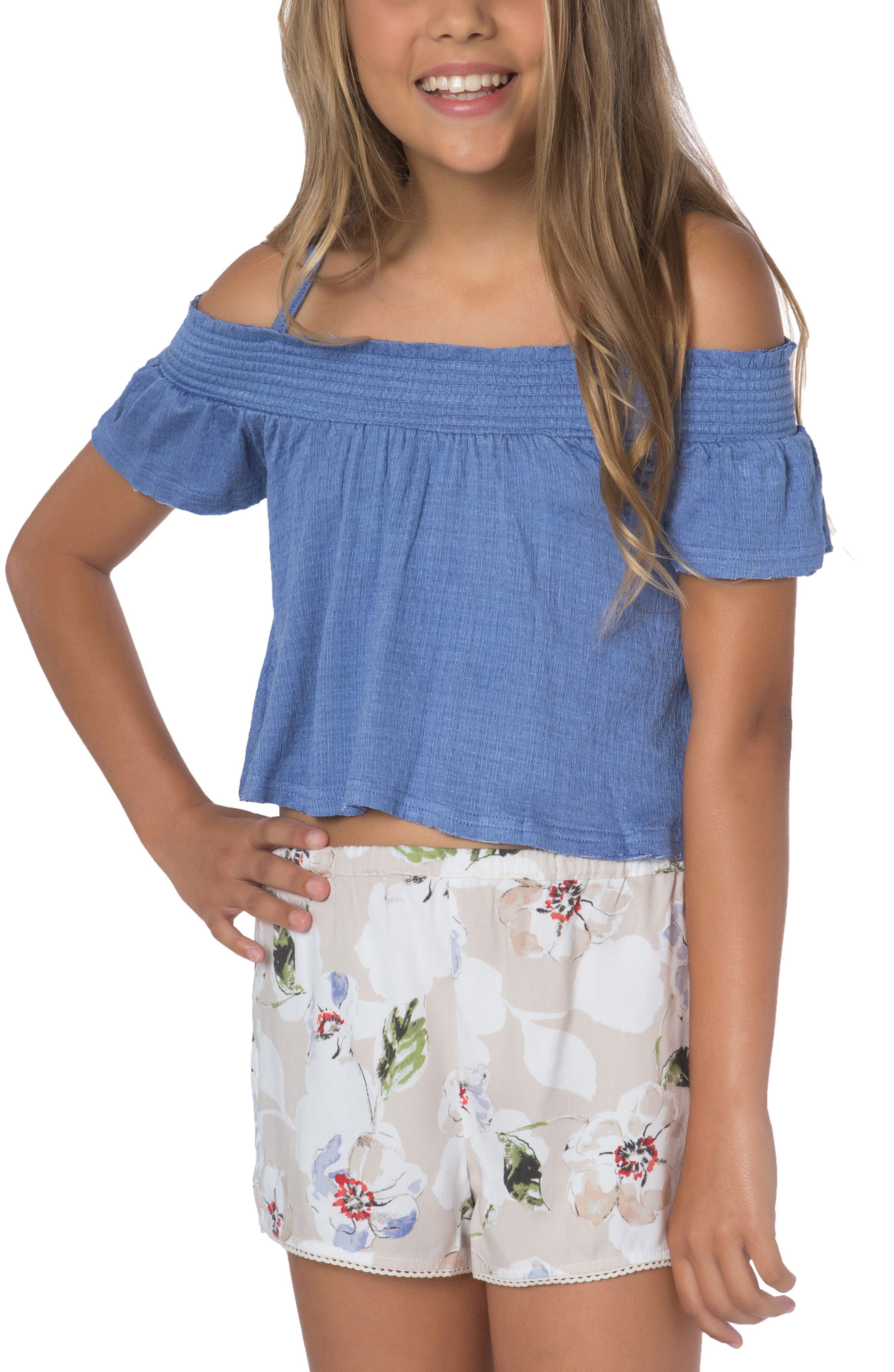 O'Neill Aurora Off the Shoulder Top (Big Girls)
