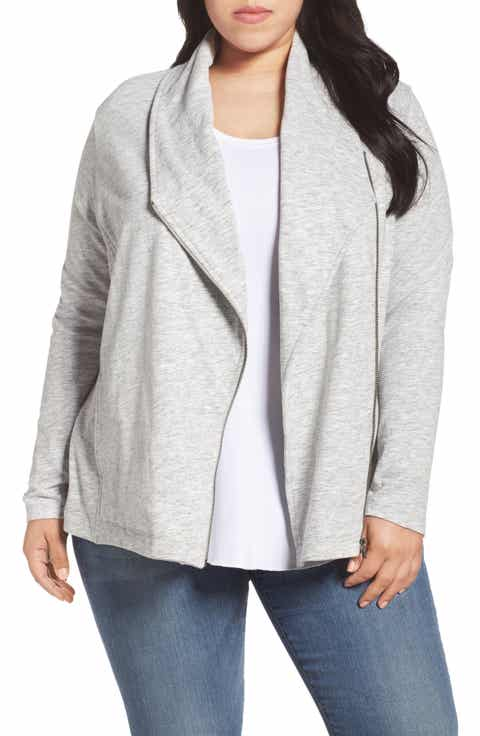 Caslon® Stella Knit Jacket (Plus Size)