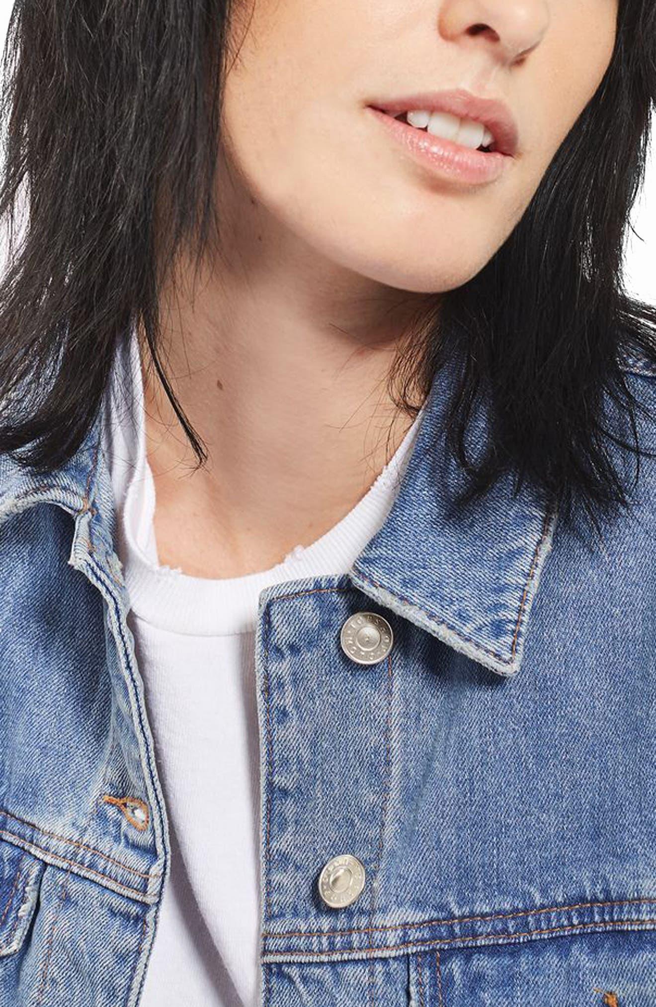 Alternate Image 5  - Topshop Matilda Denim Jacket