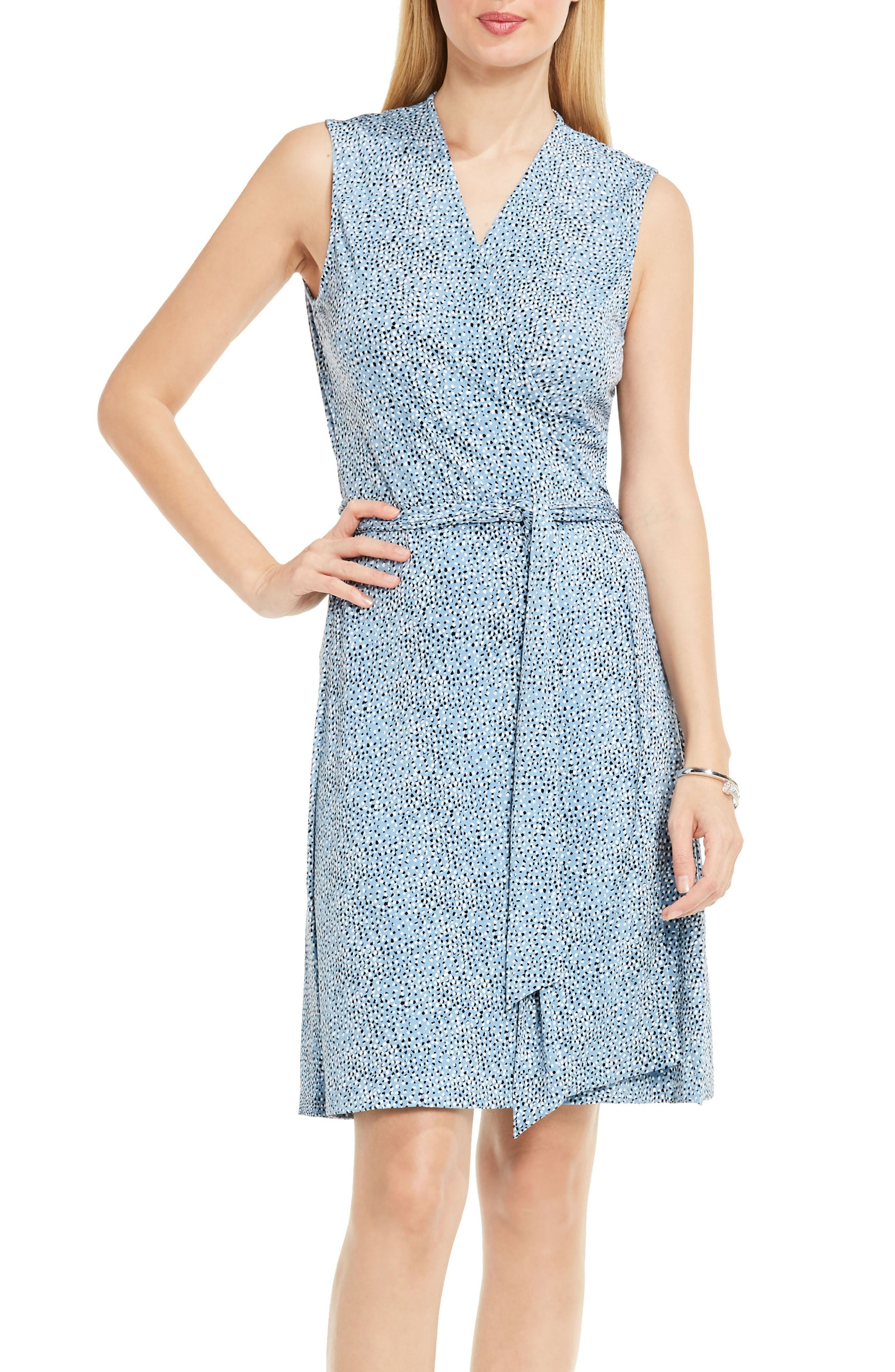 Alternate Image 1 Selected - Vince Camuto Delicate Pebbles Wrap Dress