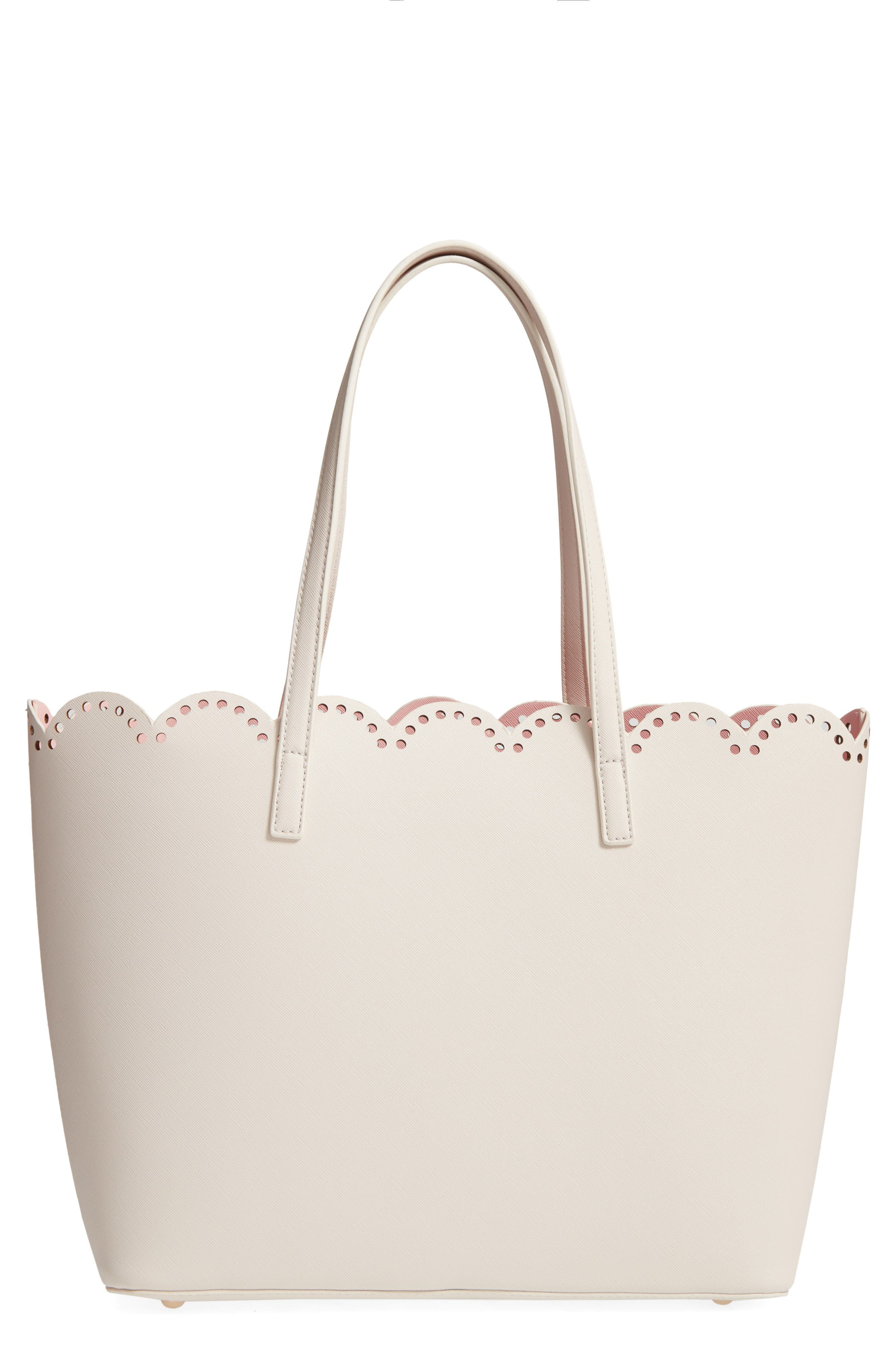 BP. Scalloped Faux Leather Tote
