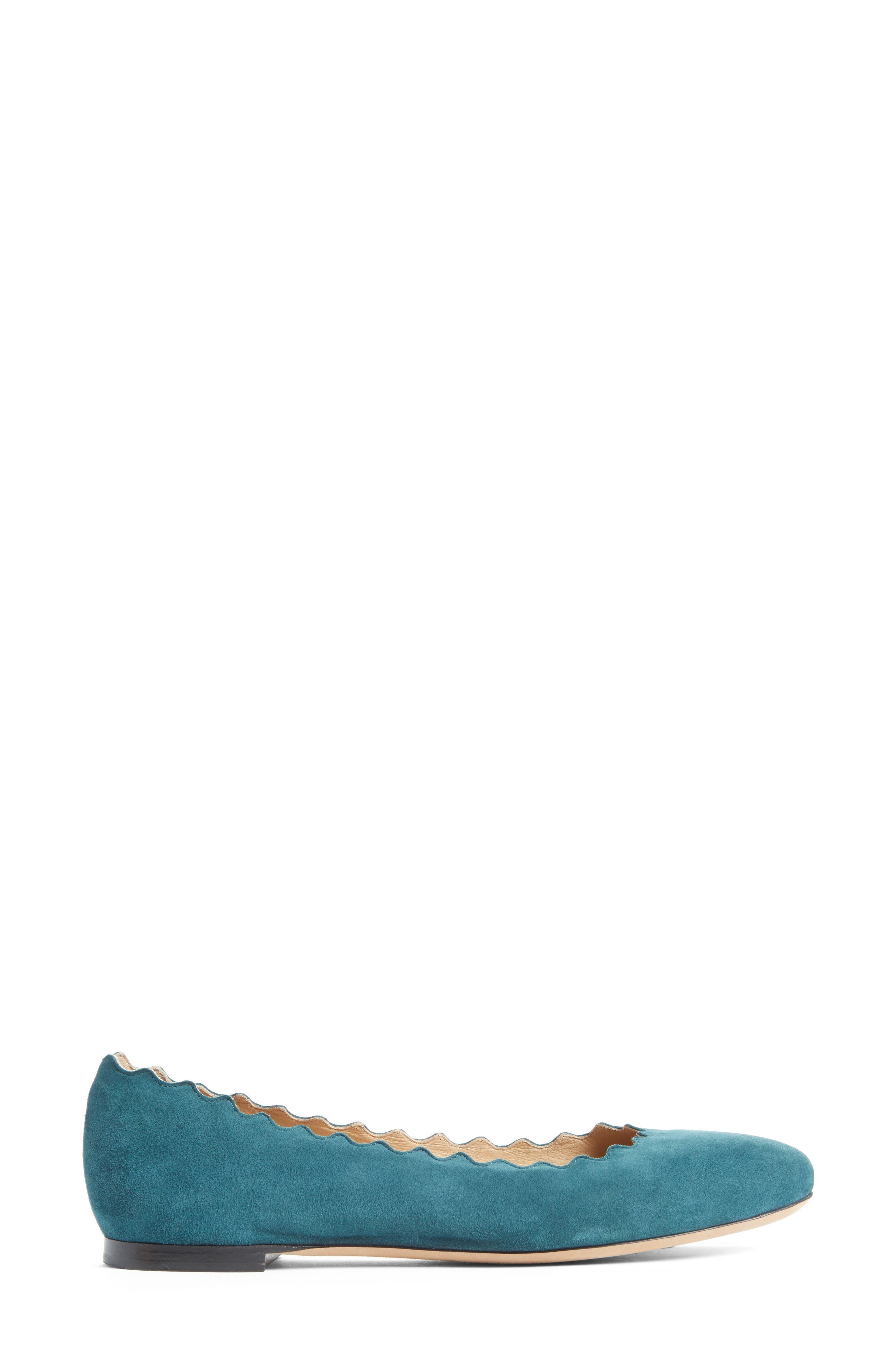Alternate Image 3  - Chloé 'Lauren' Scalloped Ballet Flat (Women)
