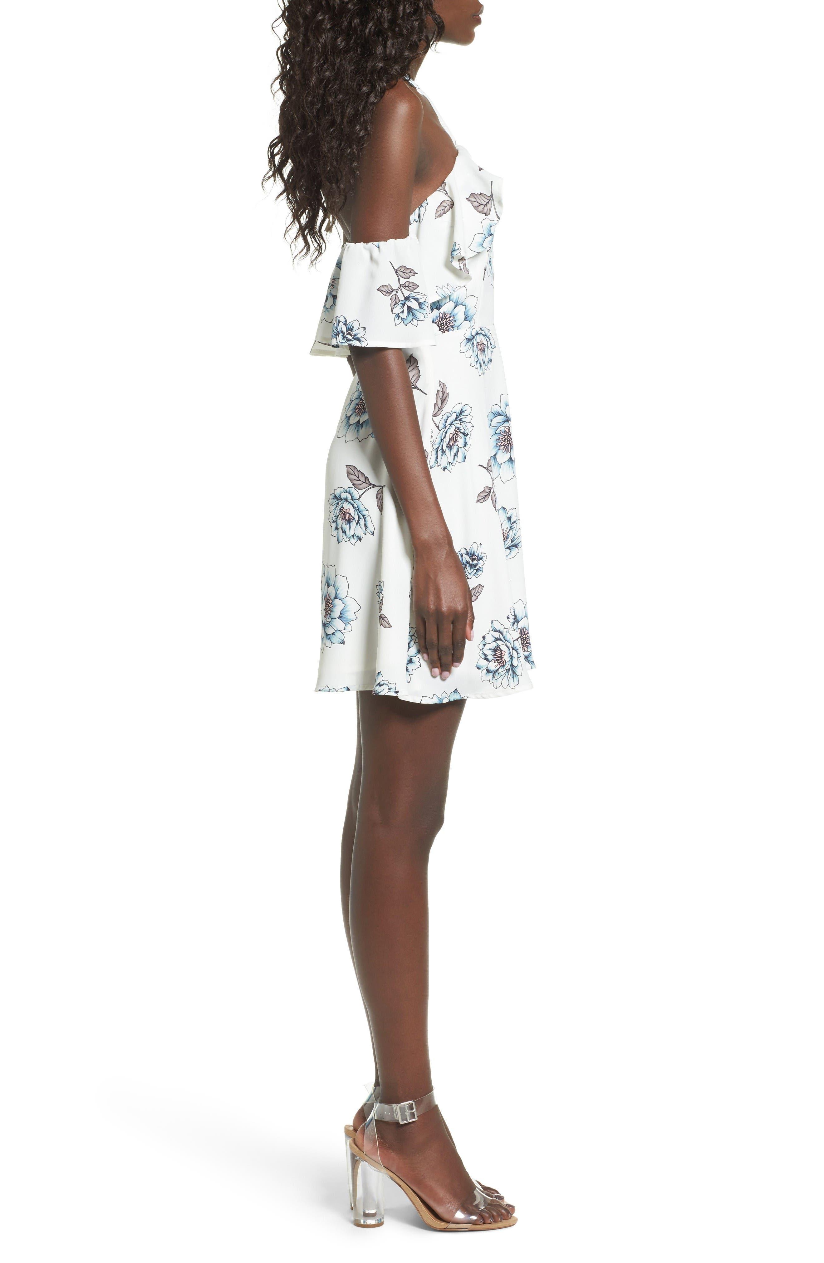 Alternate Image 3  - J.O.A. Halter Cold Shoulder Minidress