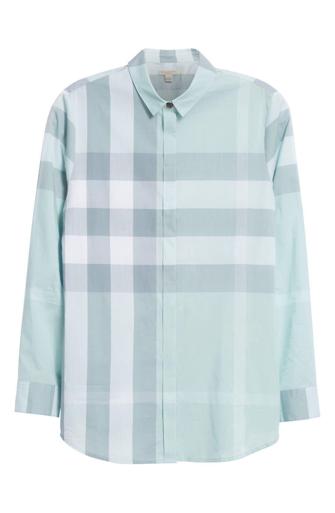 Alternate Image 4  - Burberry Check Print Cotton Shirt