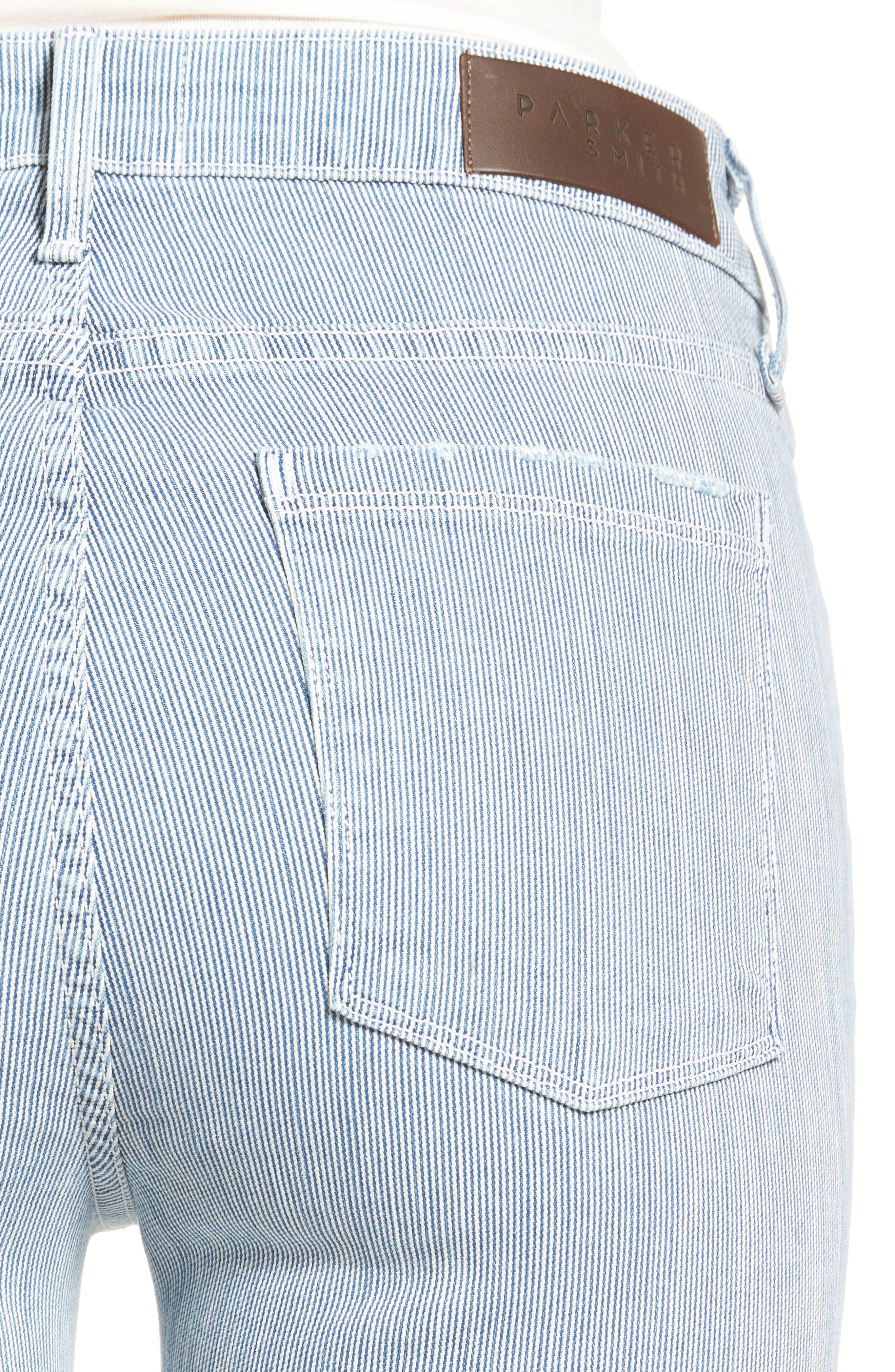 Alternate Image 4  - PARKER SMITH Ava Railroad Stripe Skinny Jeans (Engineer)