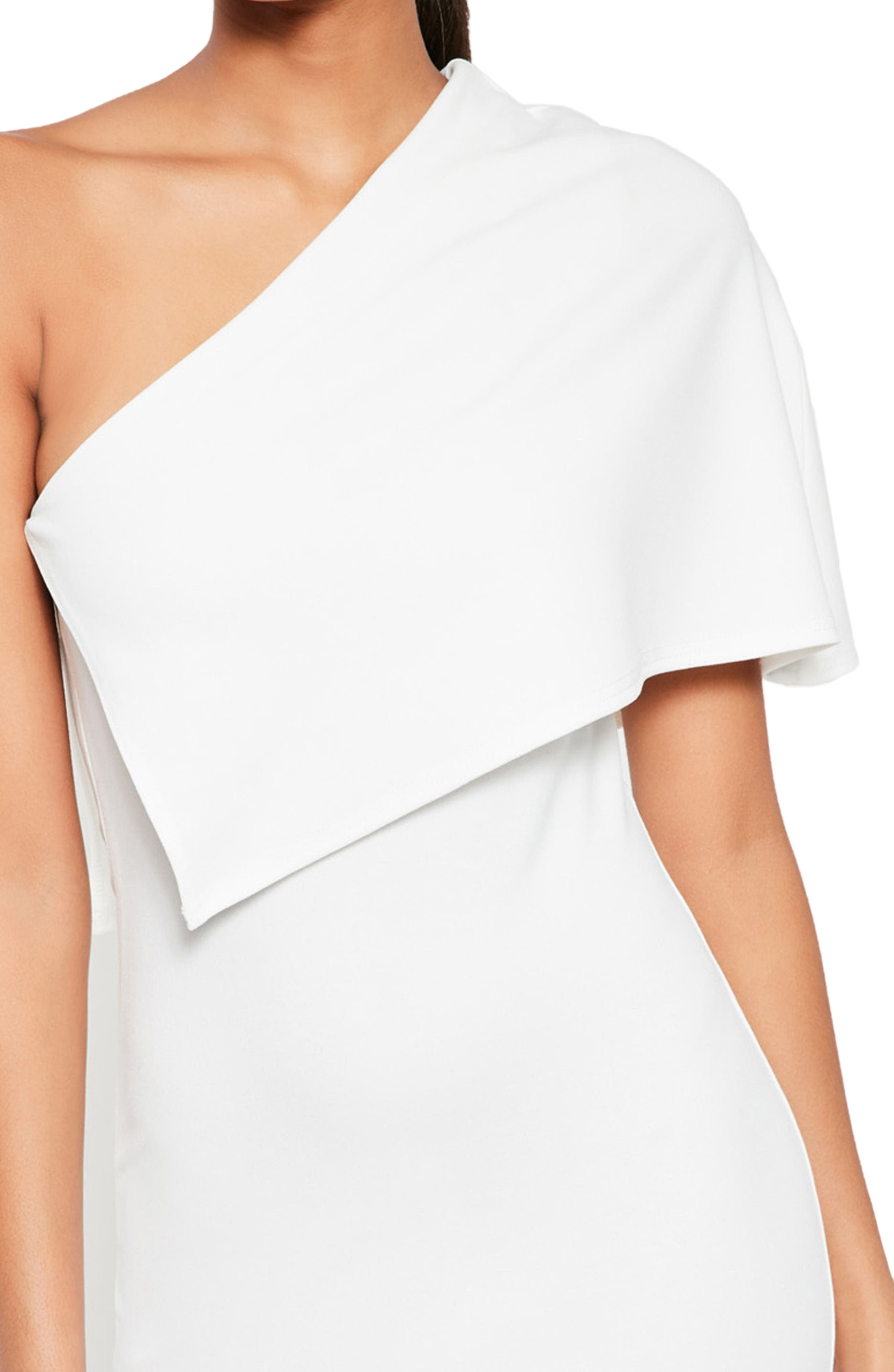 Alternate Image 3  - Missguided One-Shoulder Cape Midi Dress