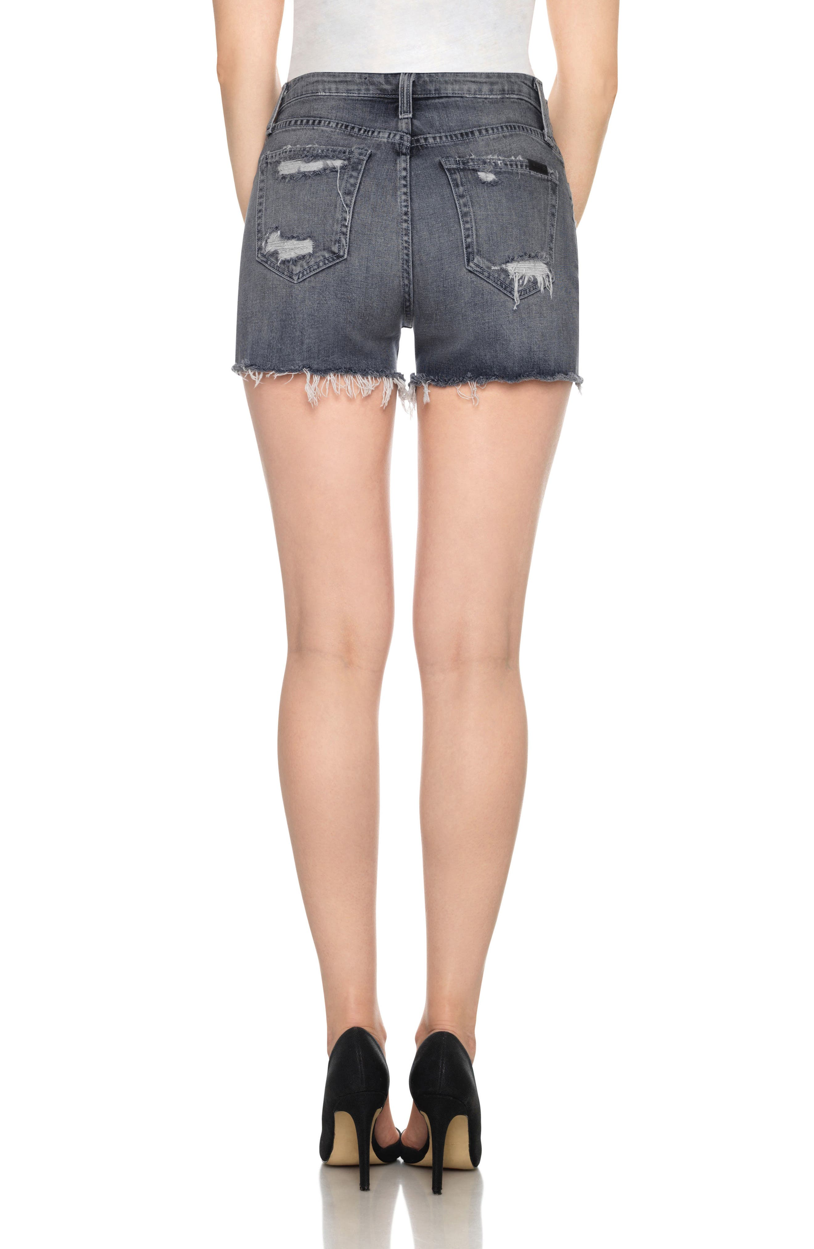 Alternate Image 2  - Joe's Collector's - Bella High Waist Cutoff Denim Shorts (Enni)