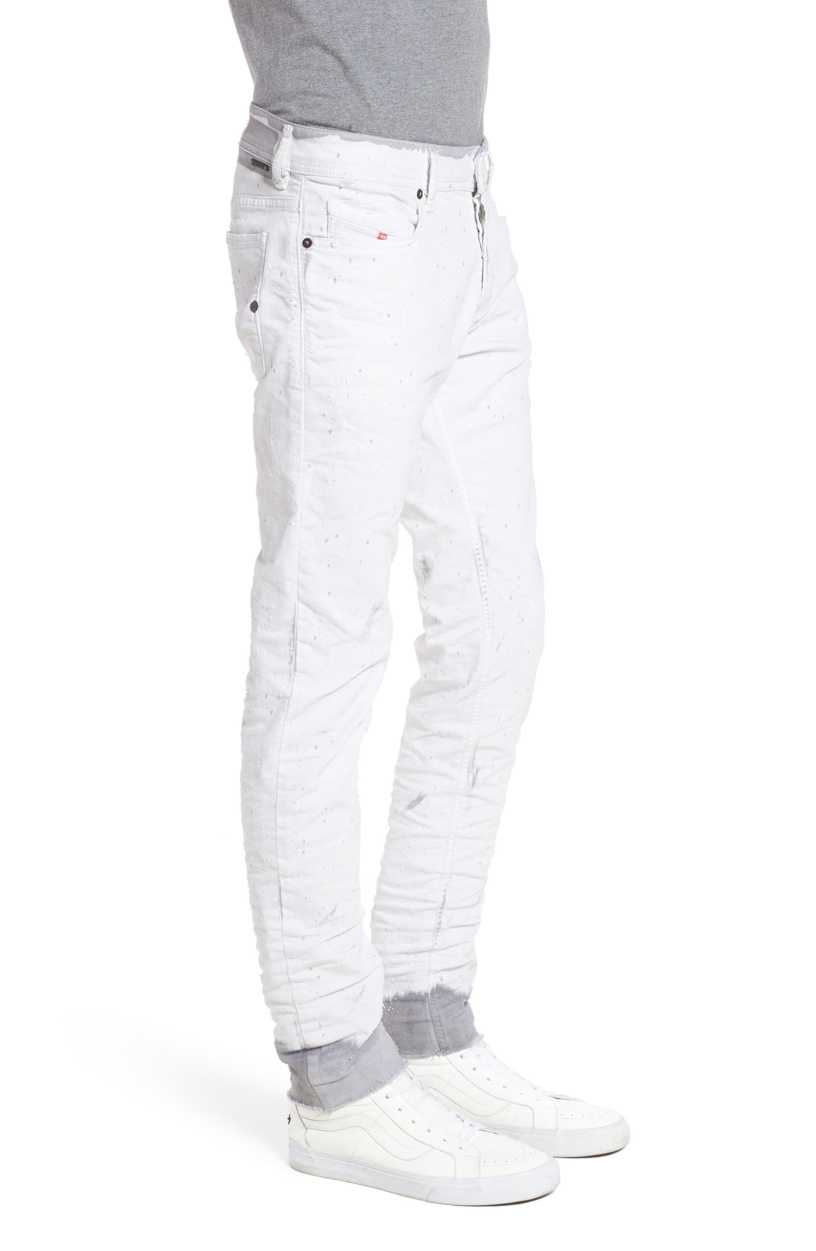Alternate Image 3  - DIESEL® Sleenker Skinny Fit Cutoff Jeans (0860B)