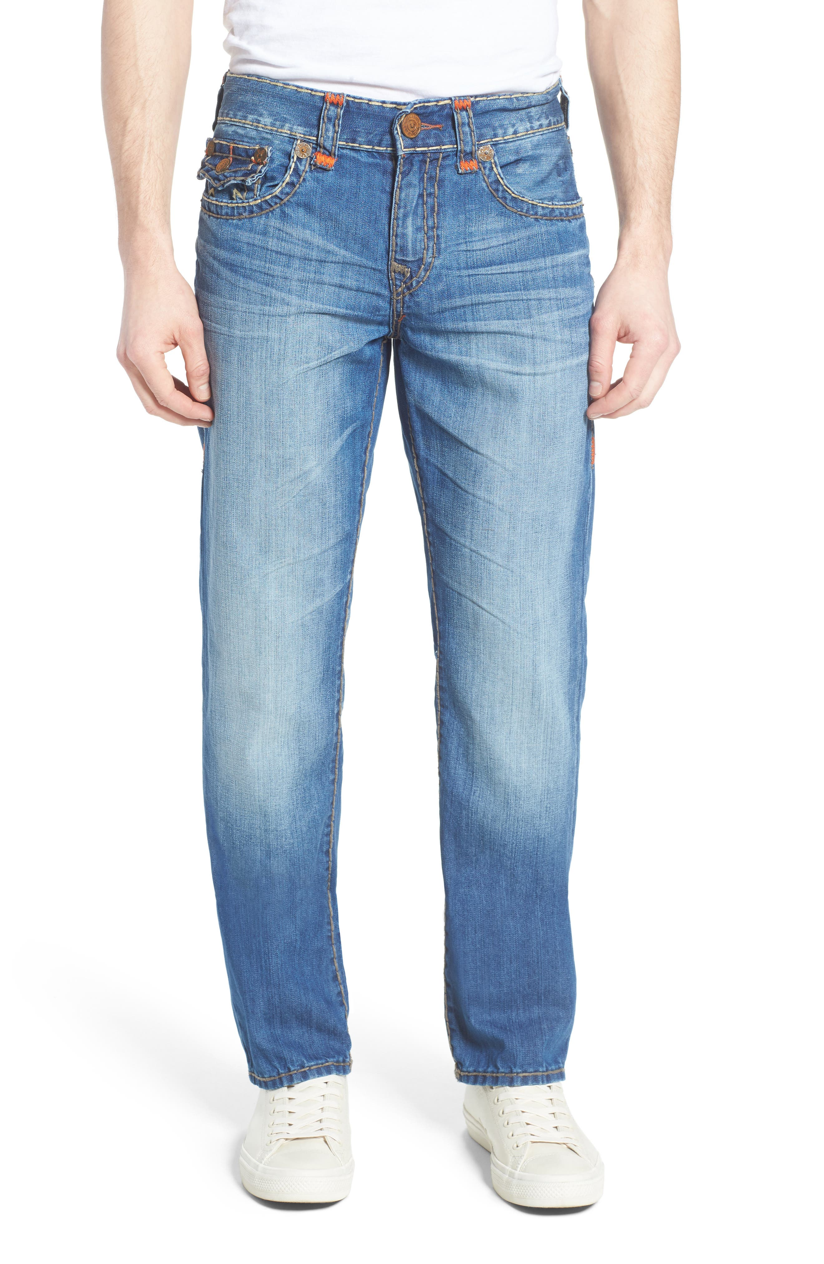 True Religion Brand Jeans Ricky Relaxed Fit Jeans (Blue Metal)