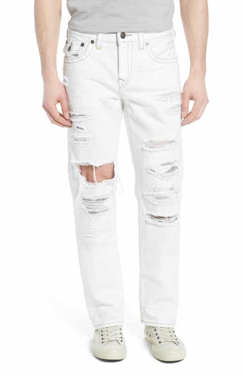True Religion Brand Jeans Ricky Relaxed Fit Jeans (White Moon)