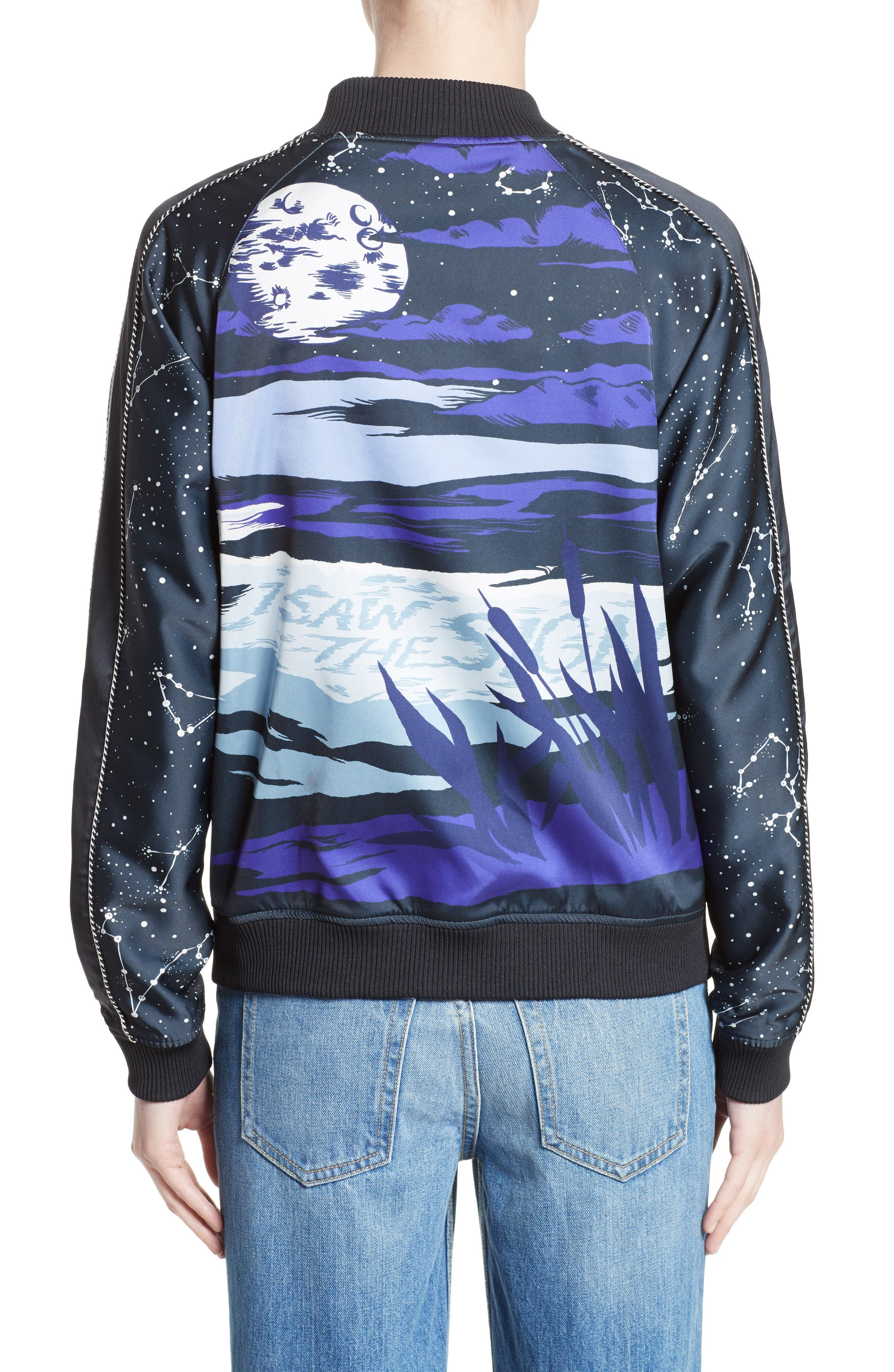Alternate Image 3  - Opening Ceremony Night Sky Reversible Silk Bomber Jacket