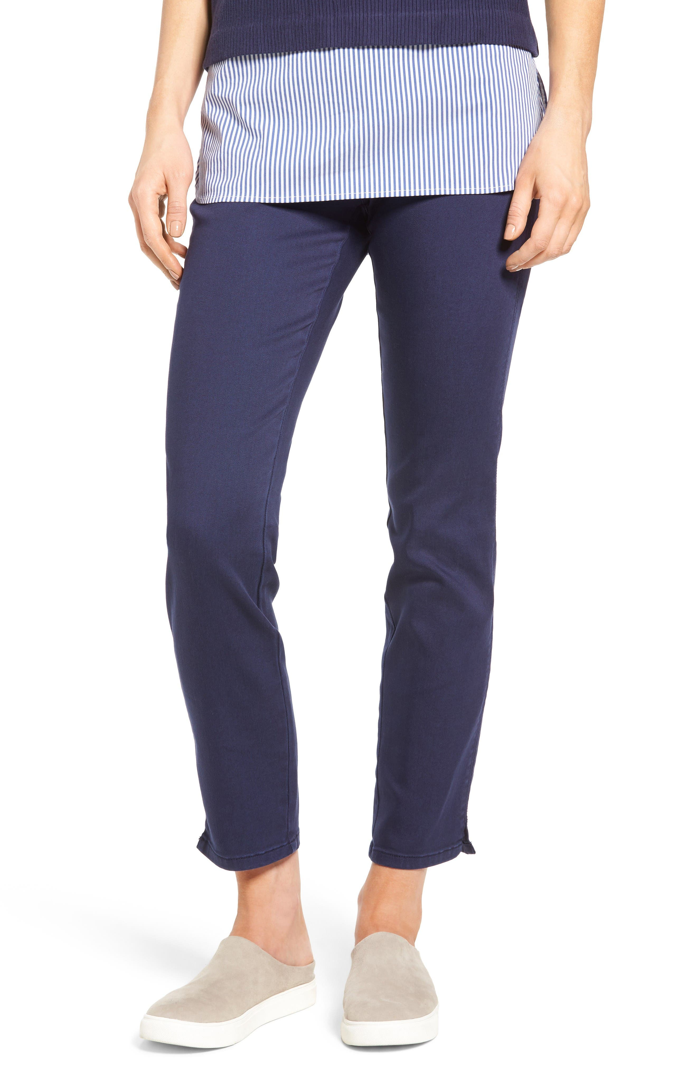NYDJ Alina Pull-On Stretch Ankle Jeans