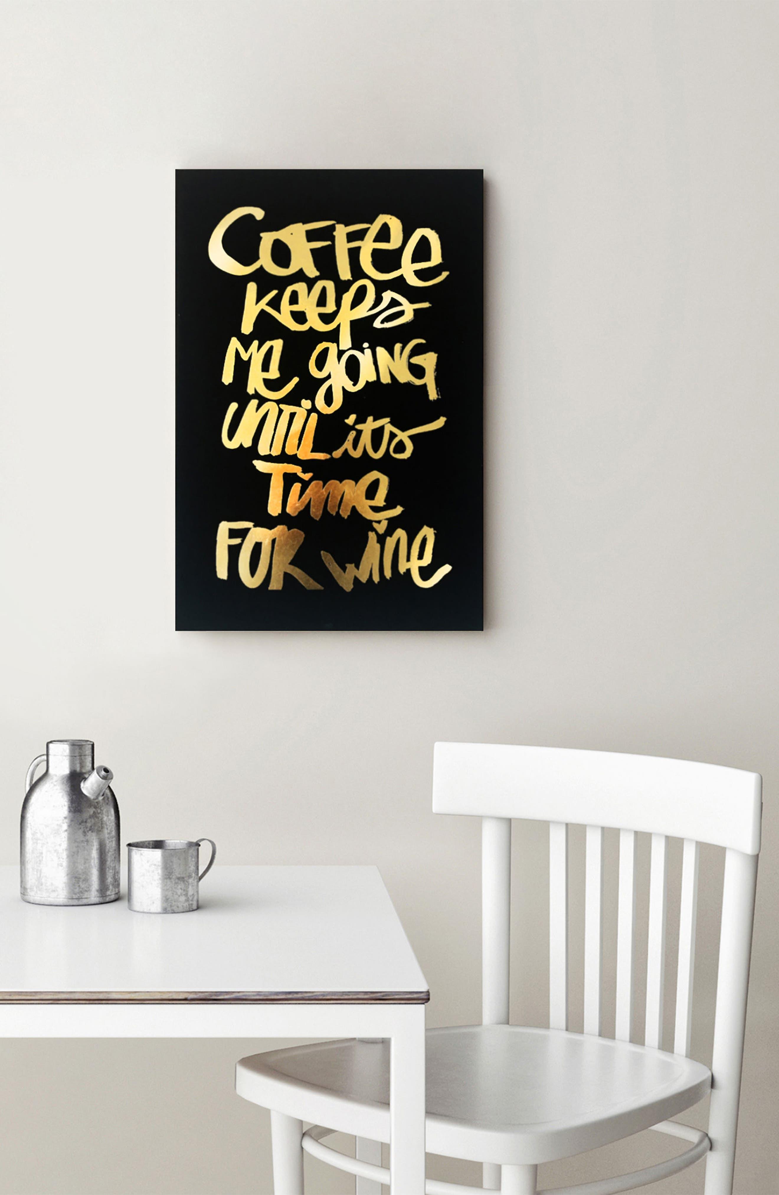 Alternate Image 2  - Wynwood Coffee & Wine Canvas Wall Art