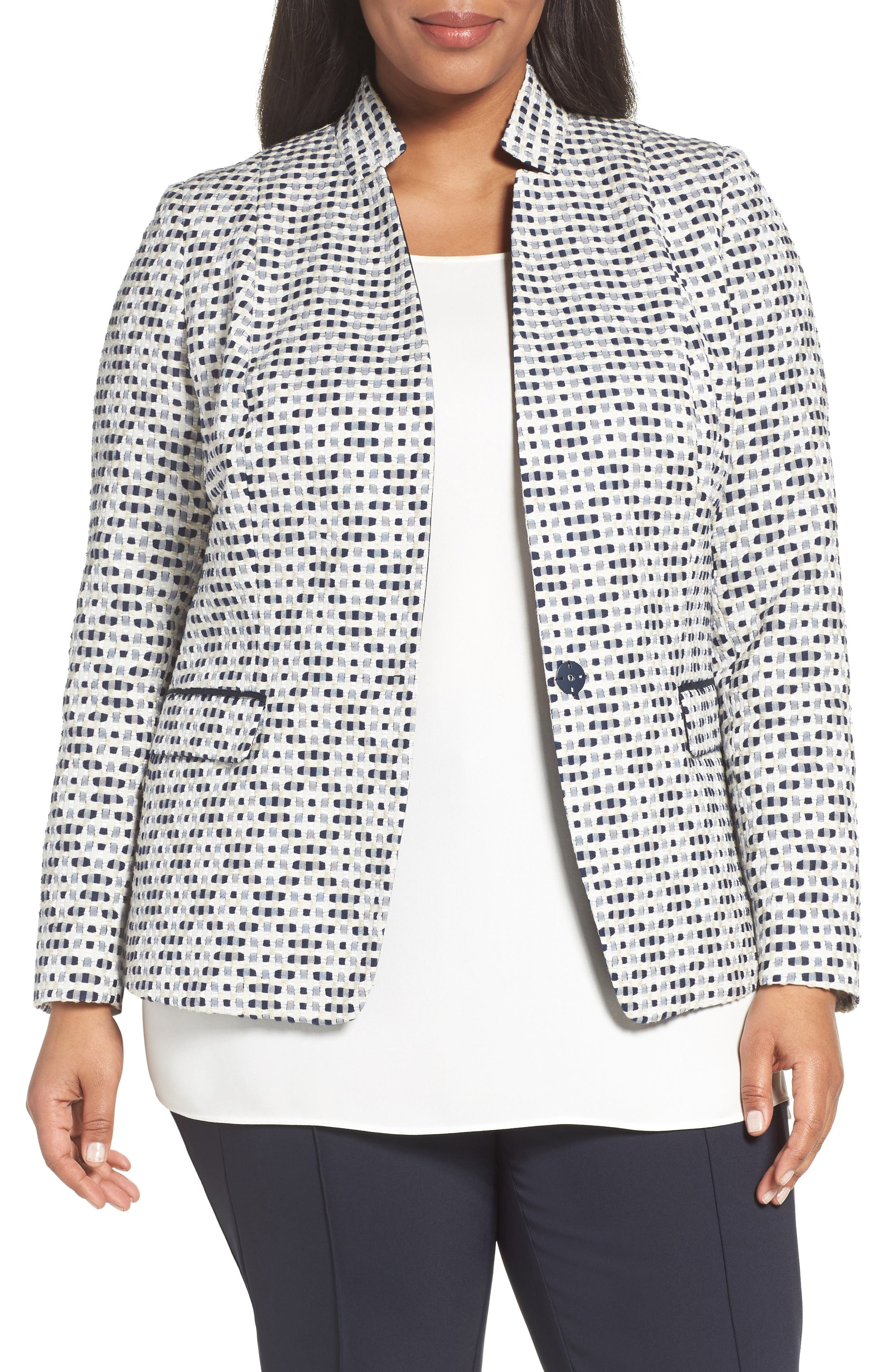 Lafayette 148 New York Alexis Woven Jacket (Plus Size)