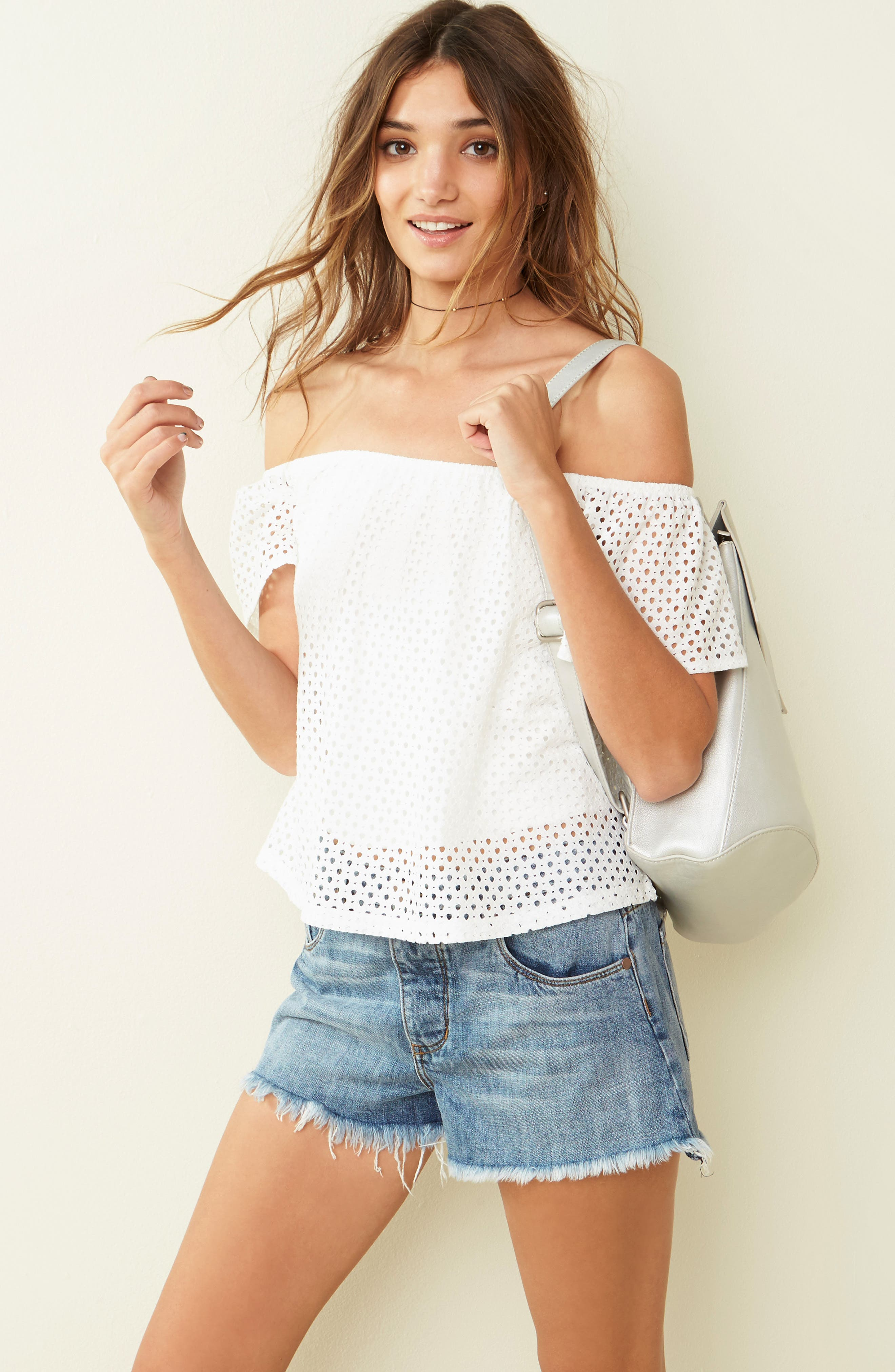 Alternate Image 7  - BP. Eyelet Off the Shoulder Top