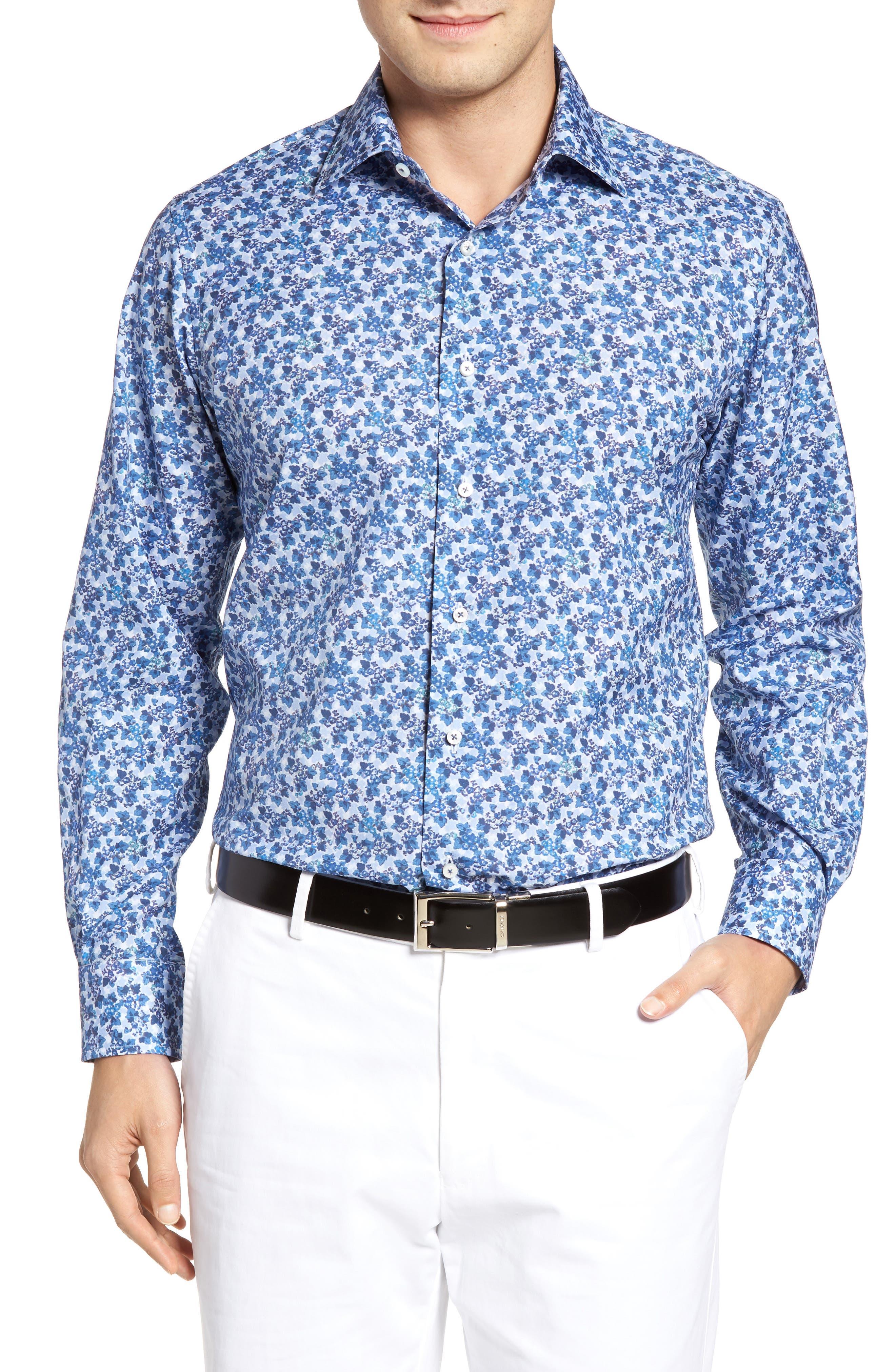 Robert Talbott Estate Tailored Fit Floral Sport Shirt