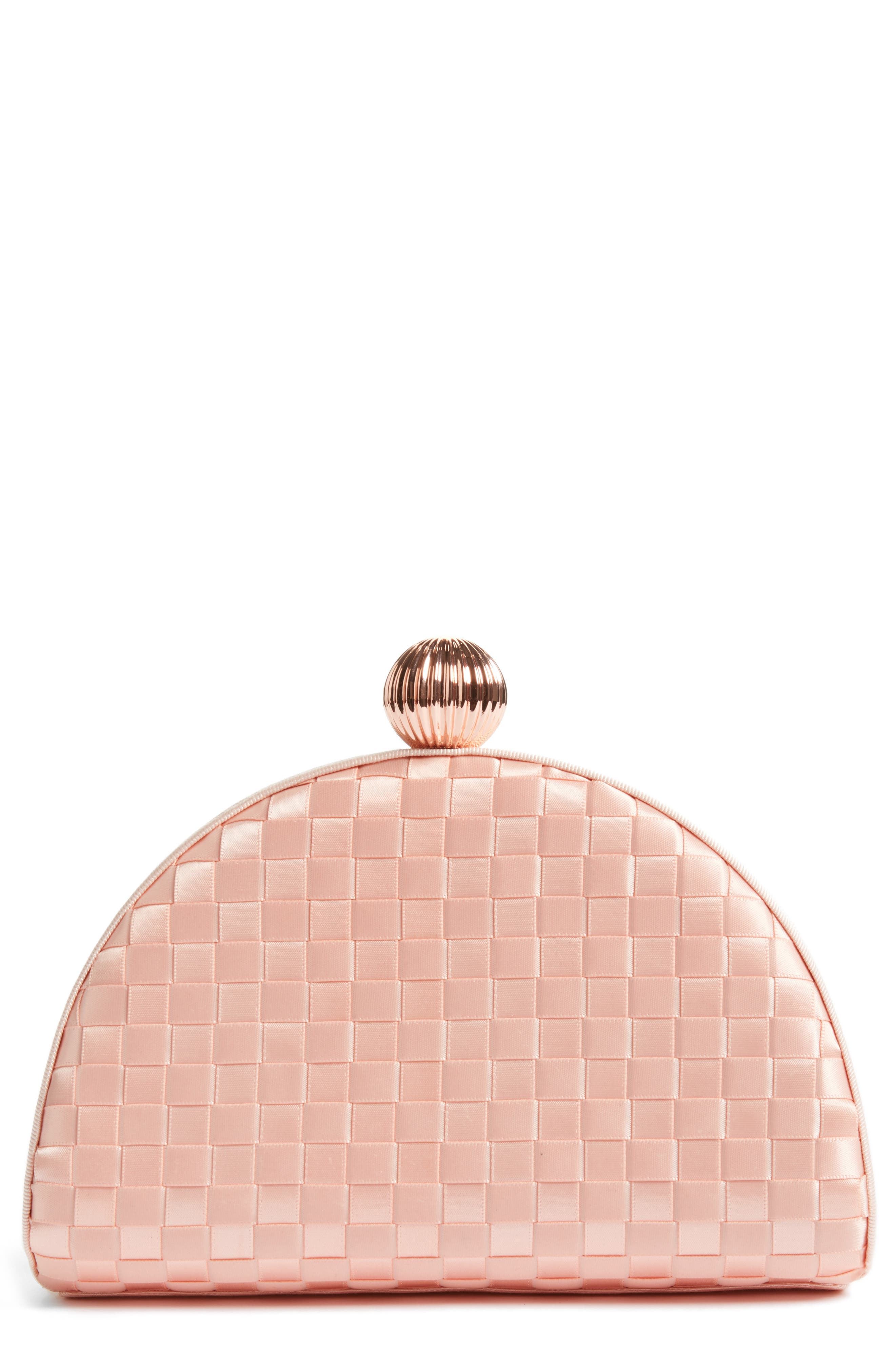 Main Image - Ted Baker London Woven Dome Clutch