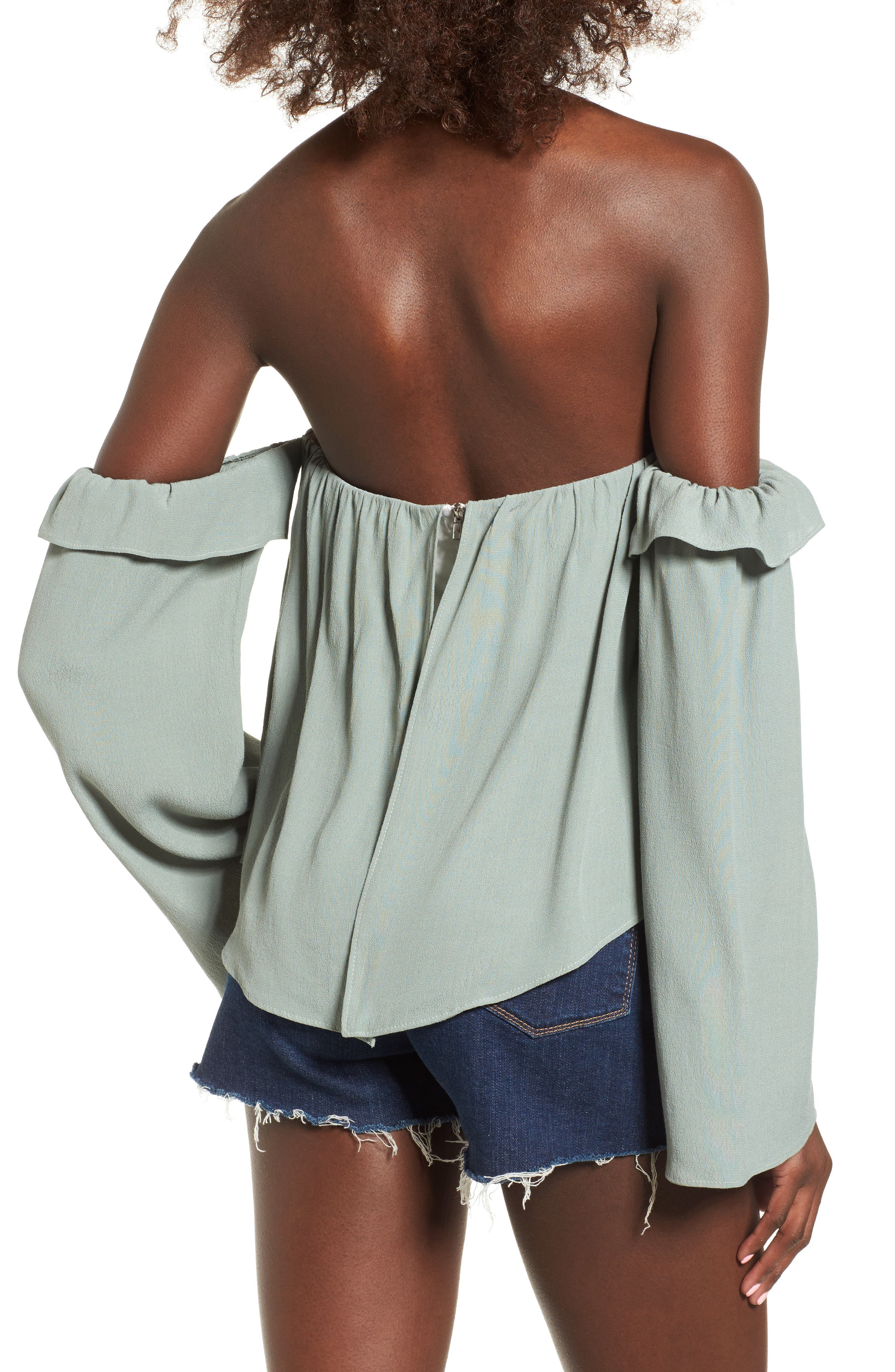 Alternate Image 2  - 4SI3NNA Ruffle Off the Shoulder Blouse