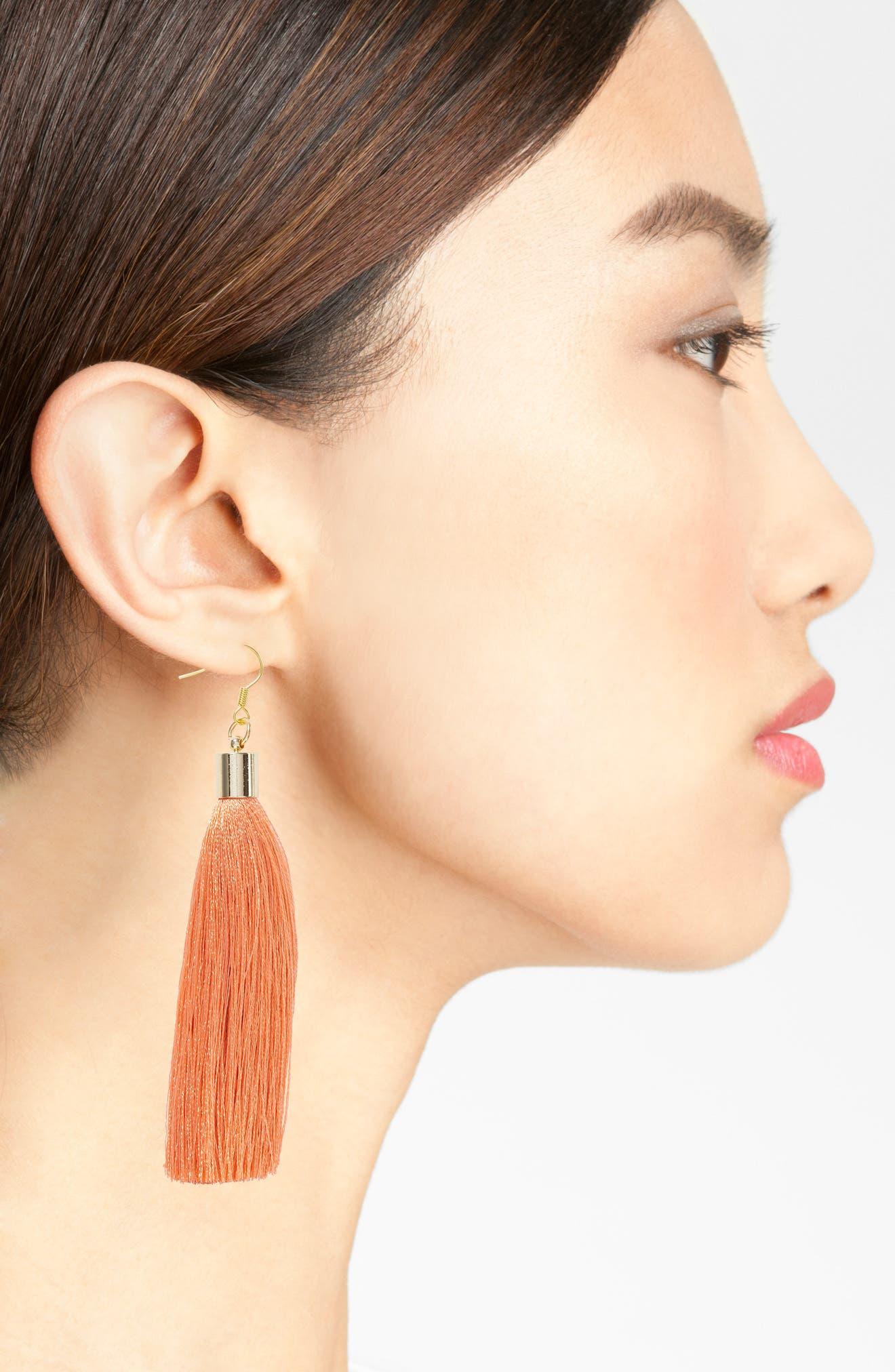 Alternate Image 2  - Love's Affect Silk Tassel Earrings