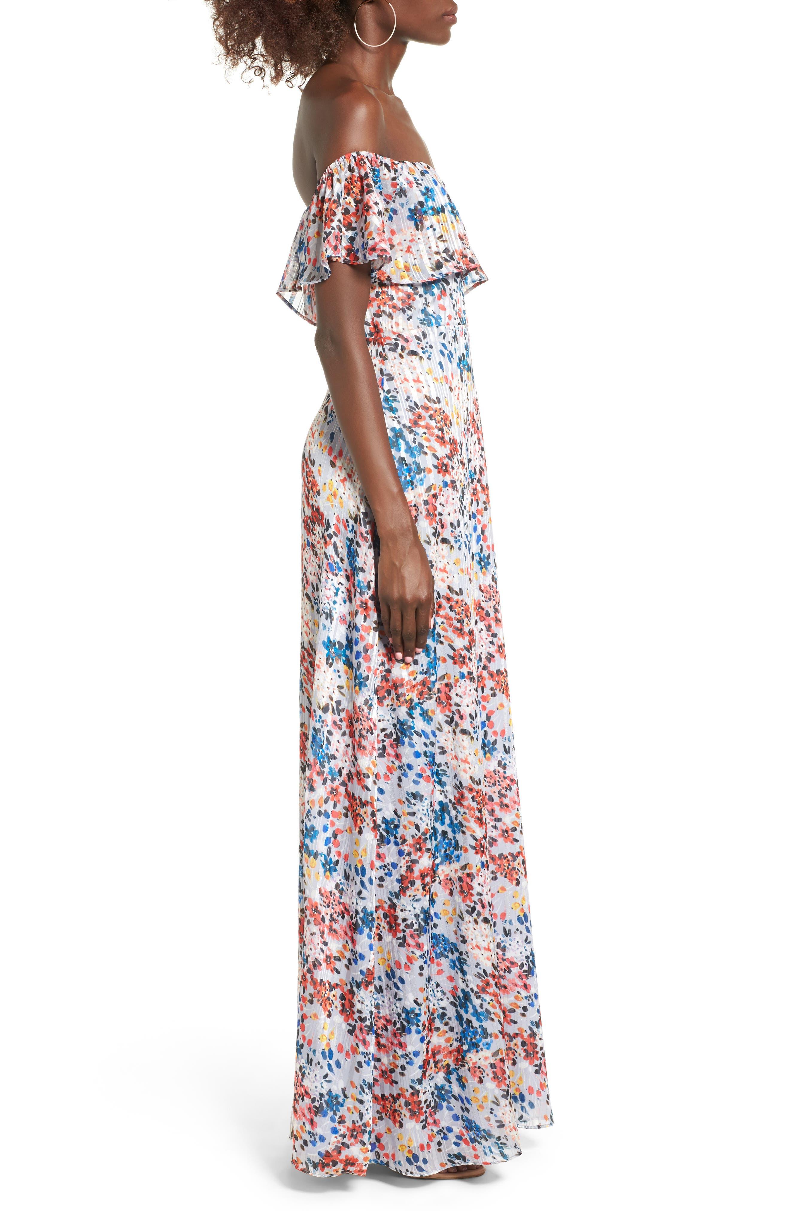 Alternate Image 4  - devlin Beth Off the Shoulder Maxi Dress