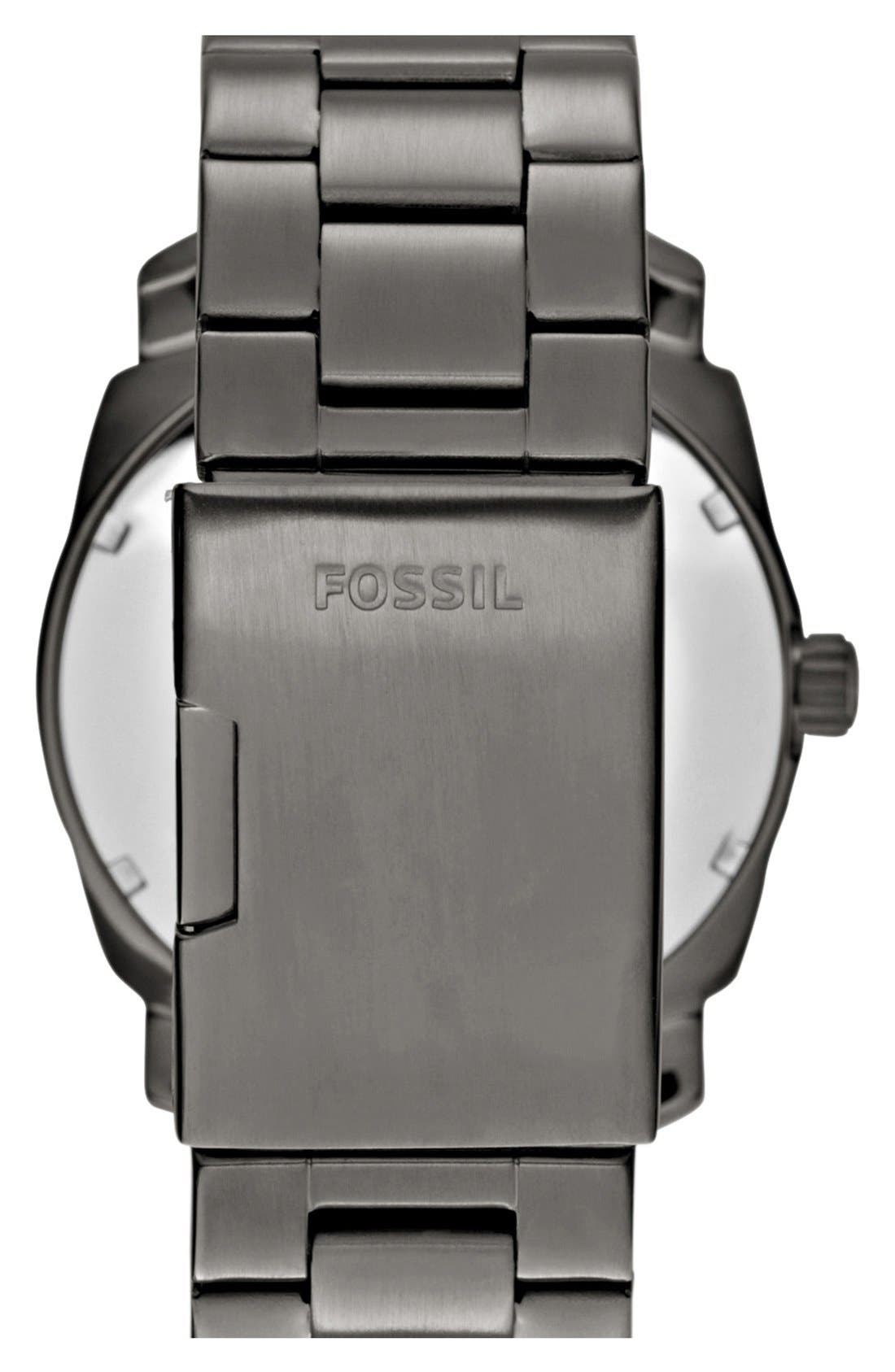 Alternate Image 2  - Fossil 'Machine' Bracelet Watch, 42mm