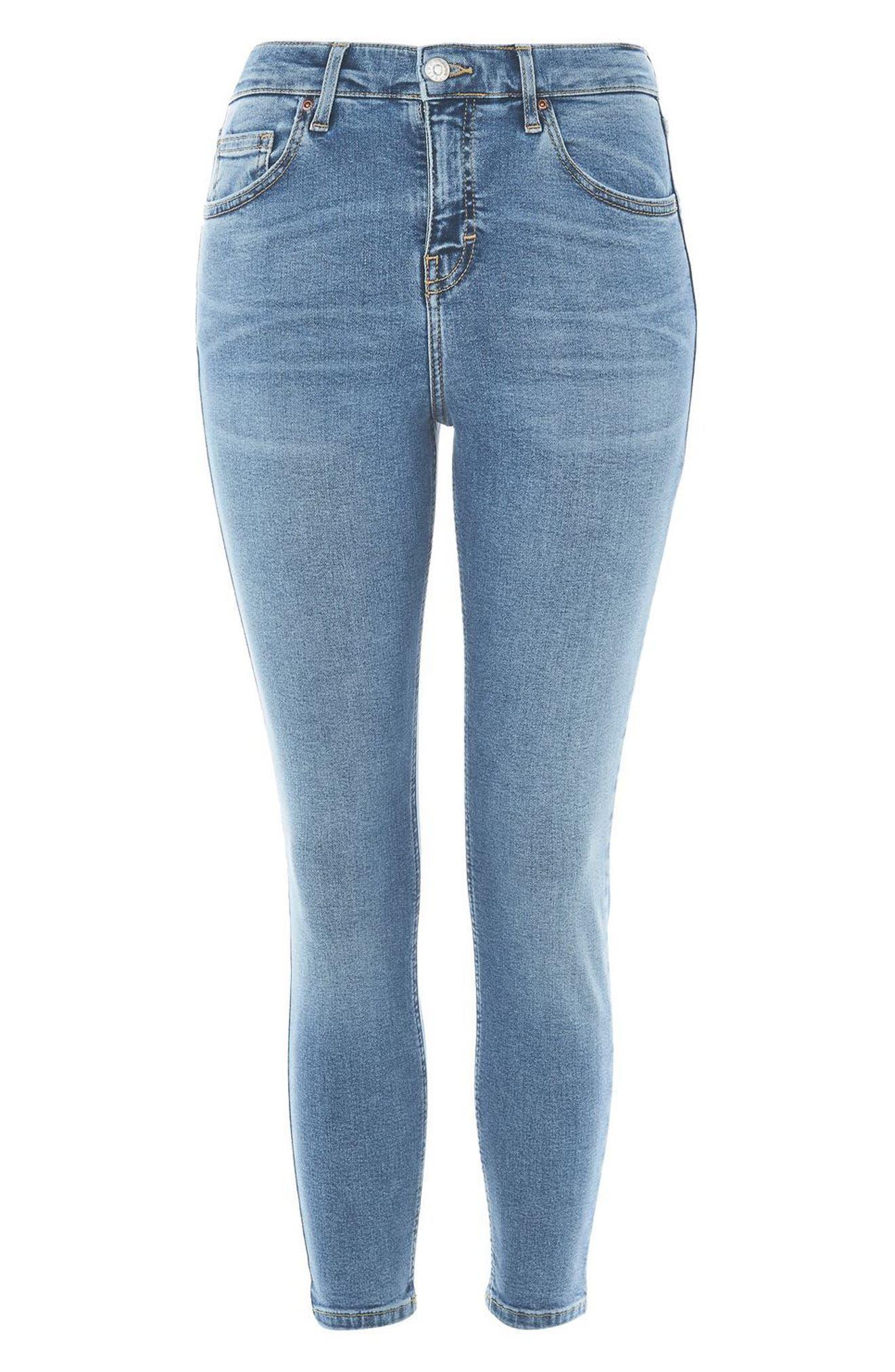 Alternate Image 5  - Topshop Jamie High Waist Skinny Jeans (Petite)