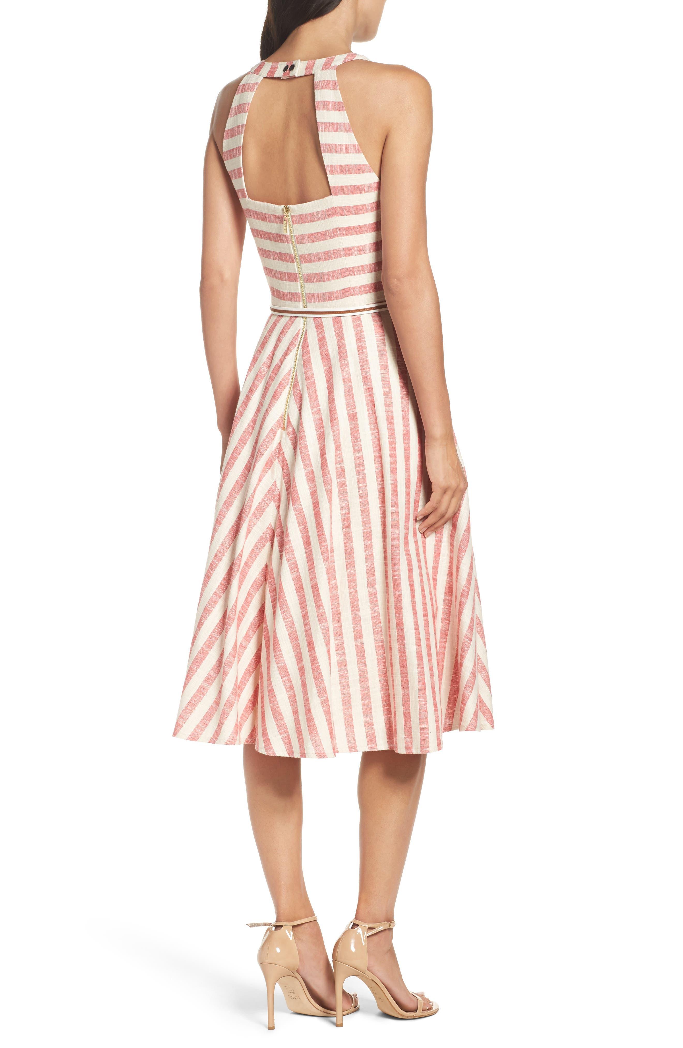 Alternate Image 2  - Eliza J Stripe Fit & Flare Midi Dress