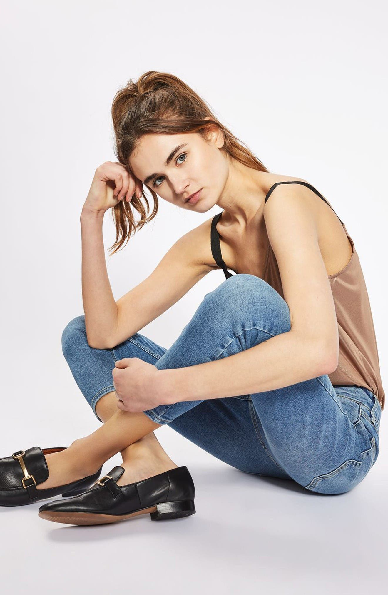 Alternate Image 2  - Topshop Jamie High Waist Skinny Jeans (Petite)