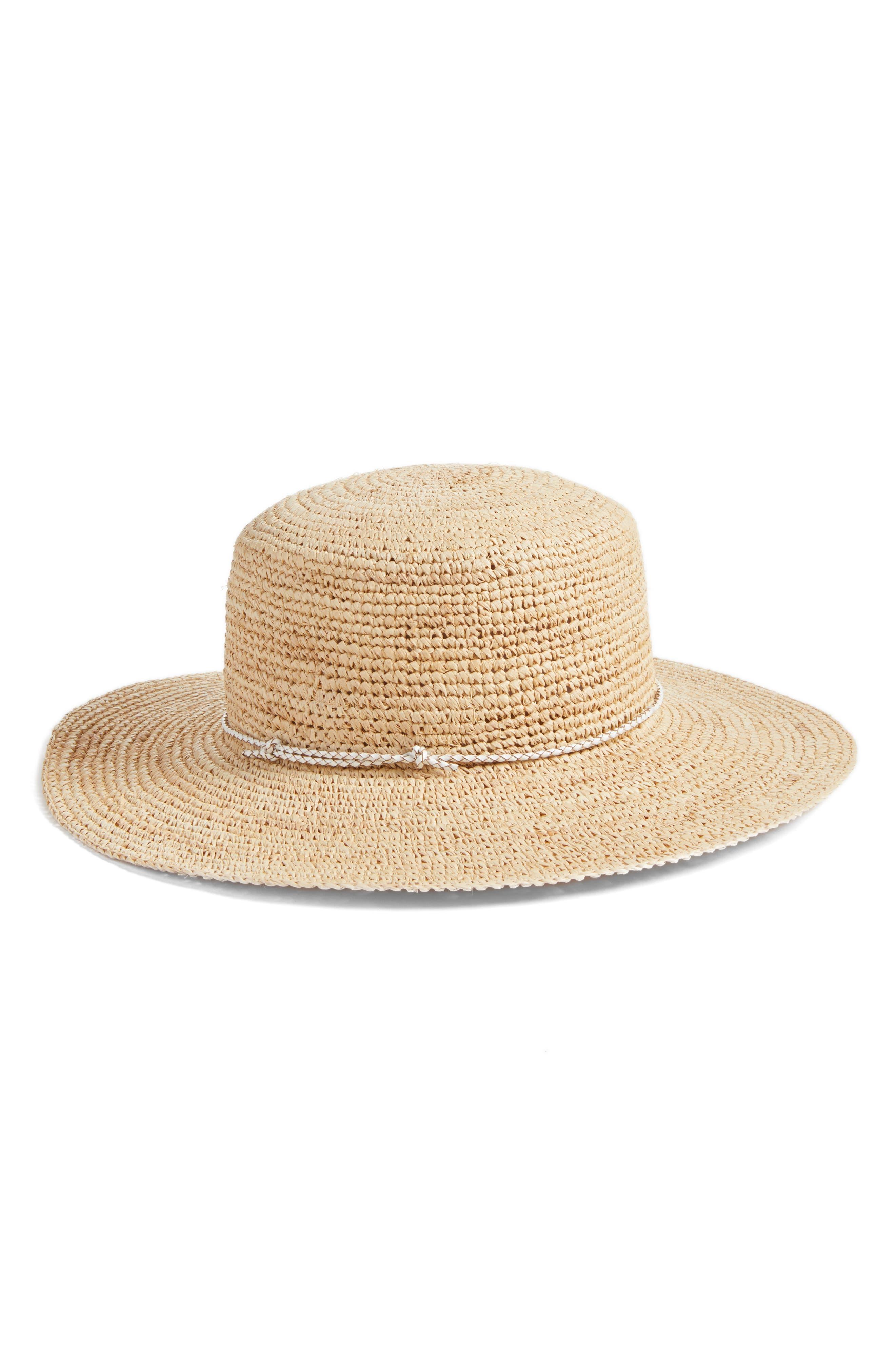 Caslon Packable Raffia Hat