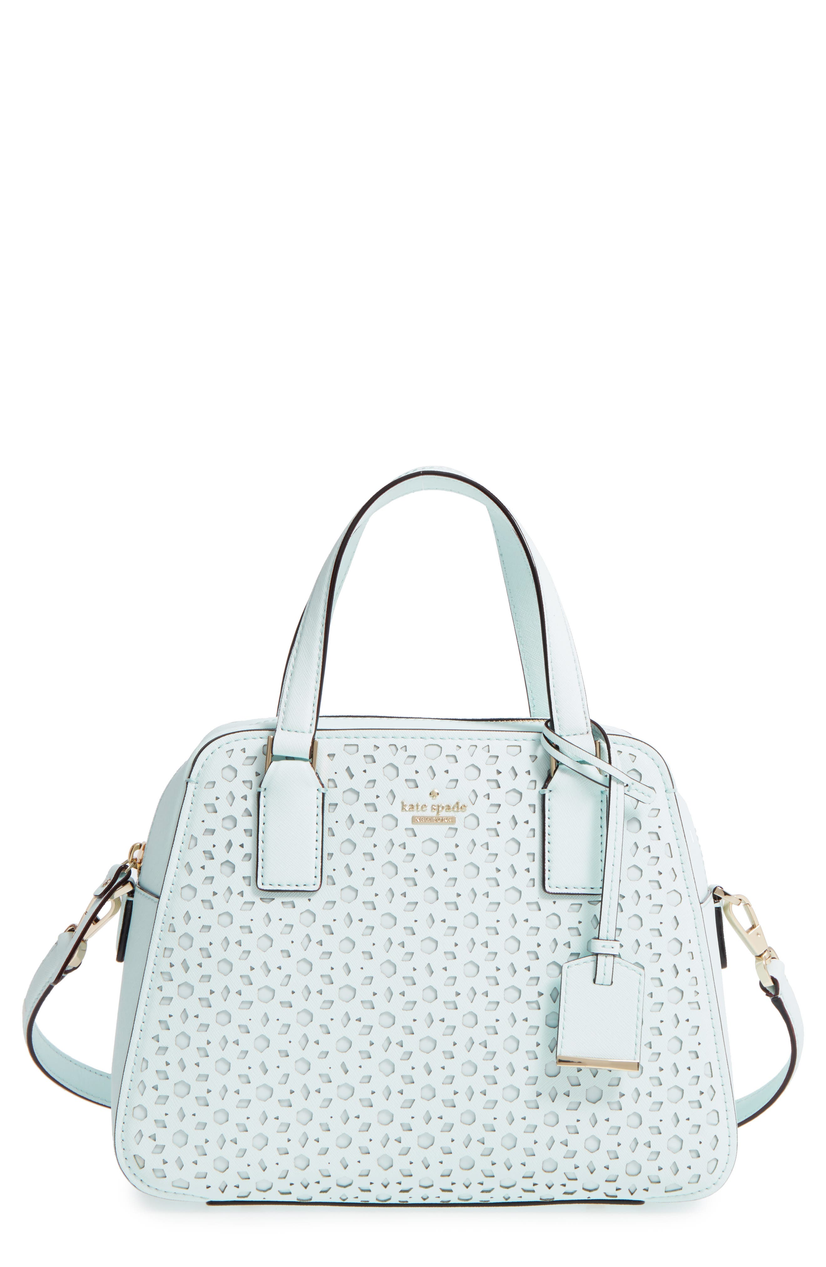Main Image - kate spade new york cameron street perforated little babe leather satchel