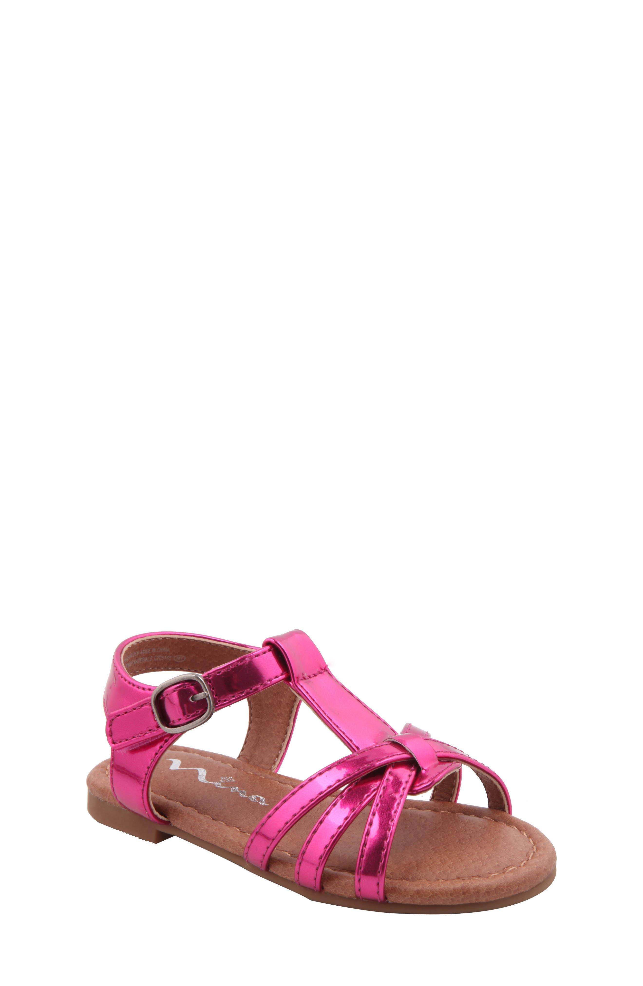 Nina Lidia Cross Strap Sandal (Walker & Toddler)