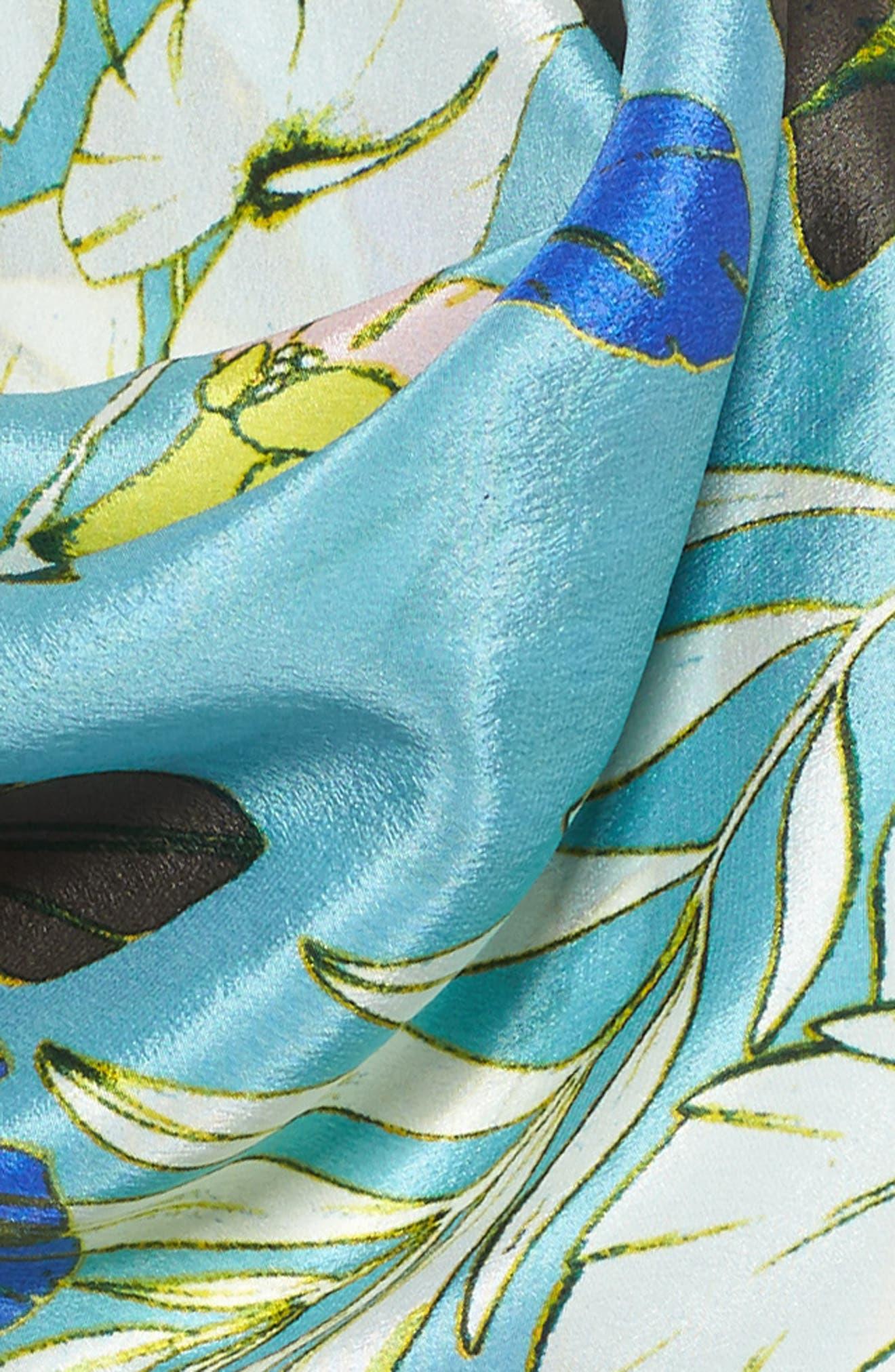Alternate Image 3  - Halogen® Paradise Floral Silk Square Scarf