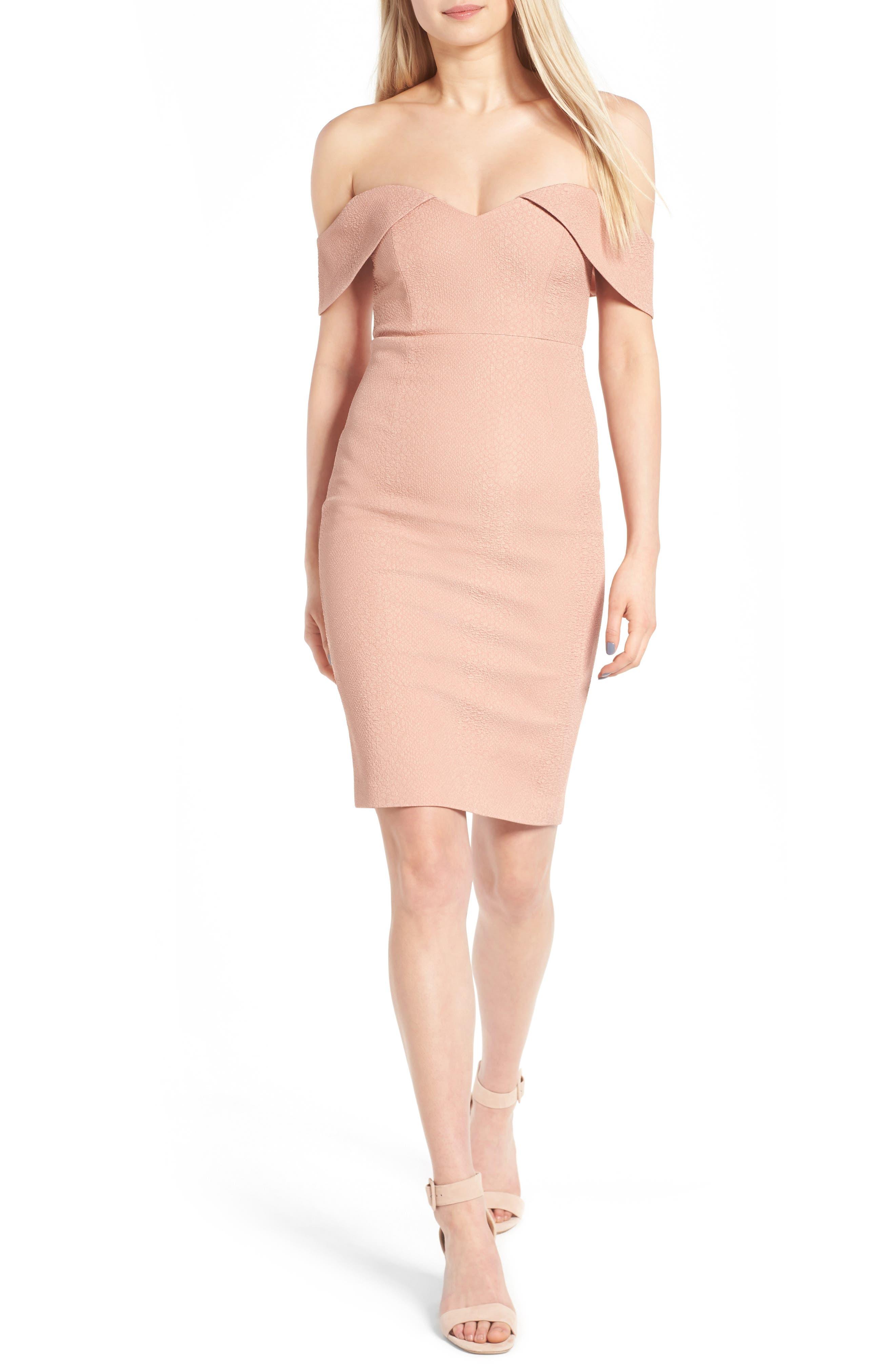 Alternate Image 5  - Bardot Eva Off the Shoulder Body-Con Dress