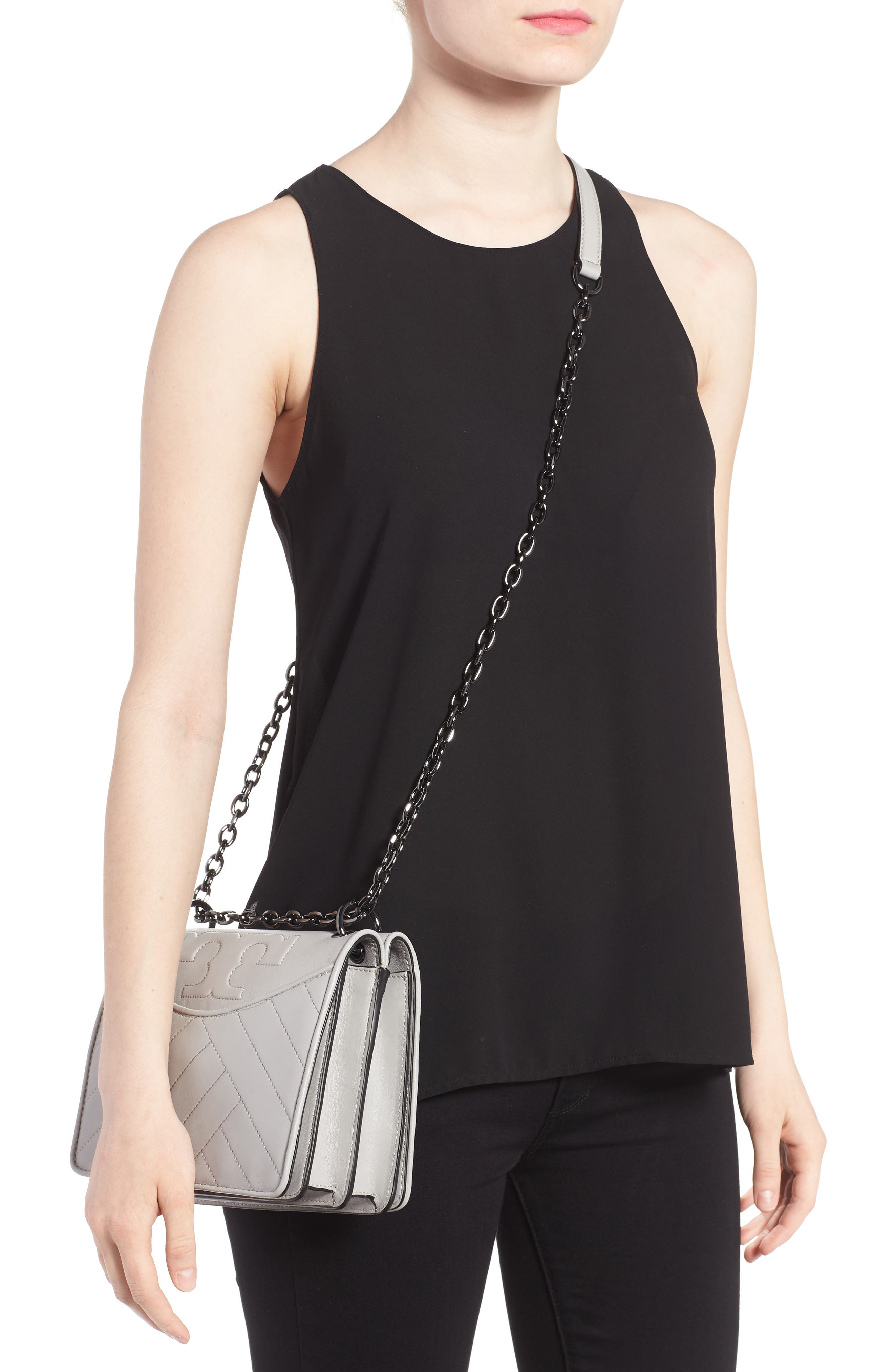 Alternate Image 2  - Tory Burch Chevron Quilted Leather Crossbody Bag