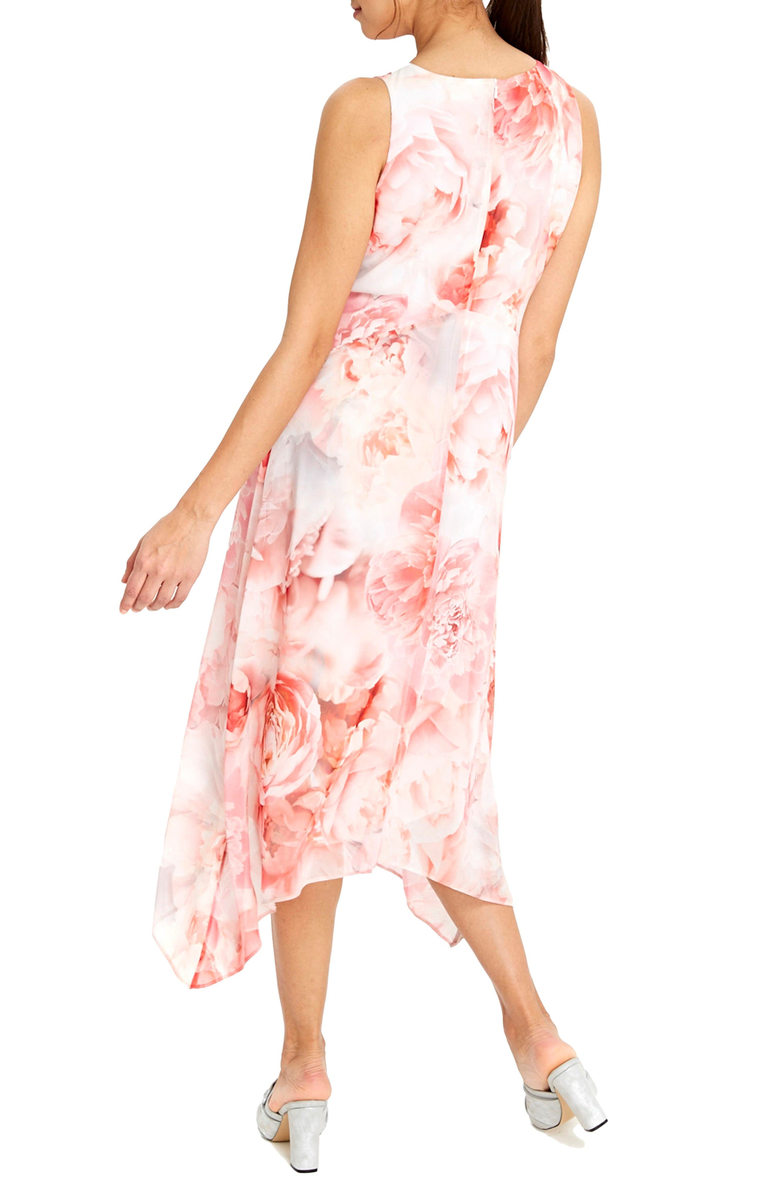 Alternate Image 2  - Wallis Pastel Rose Handkerchief Hem Dress