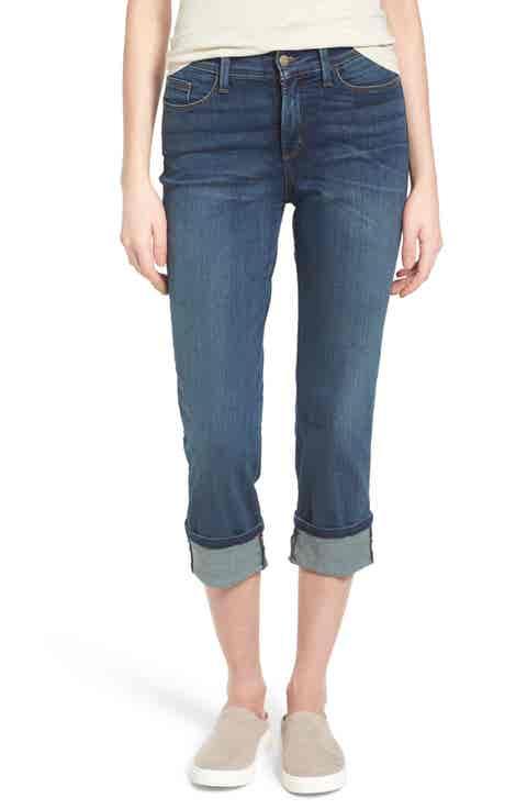 NYDJ 'Dayla' Colored Wide Cuff Capri Jeans (Regular   Petite)