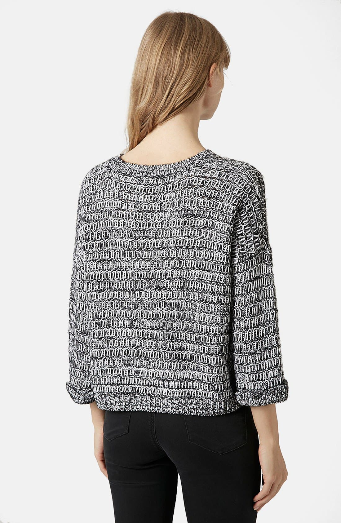 Alternate Image 2  - Topshop Slouchy Marl Sweater