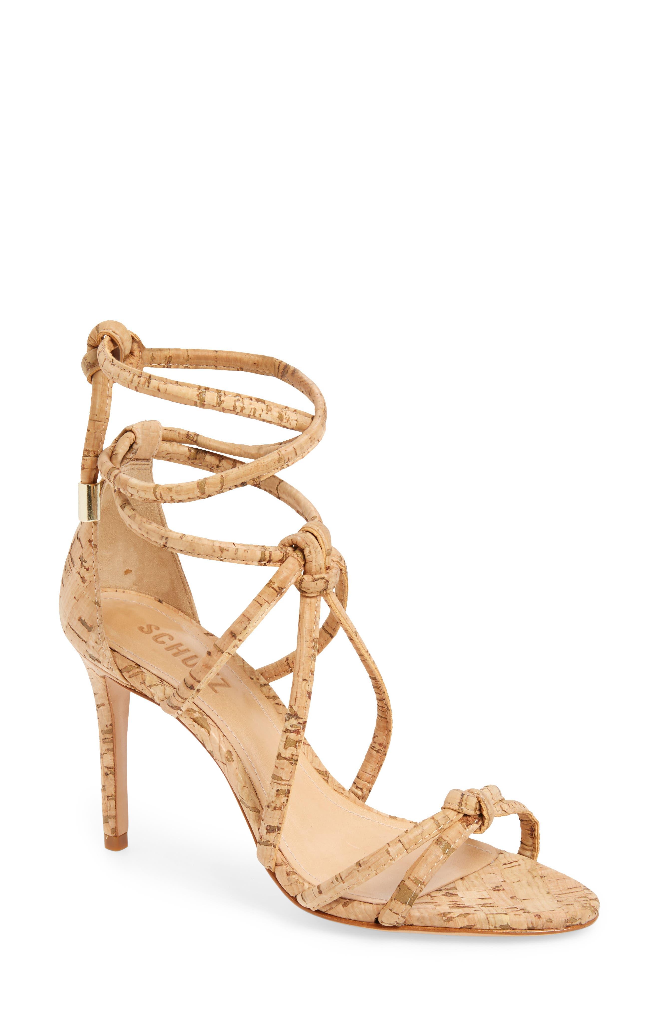Schutz Nadira Knotted Wraparound Sandal (Women)