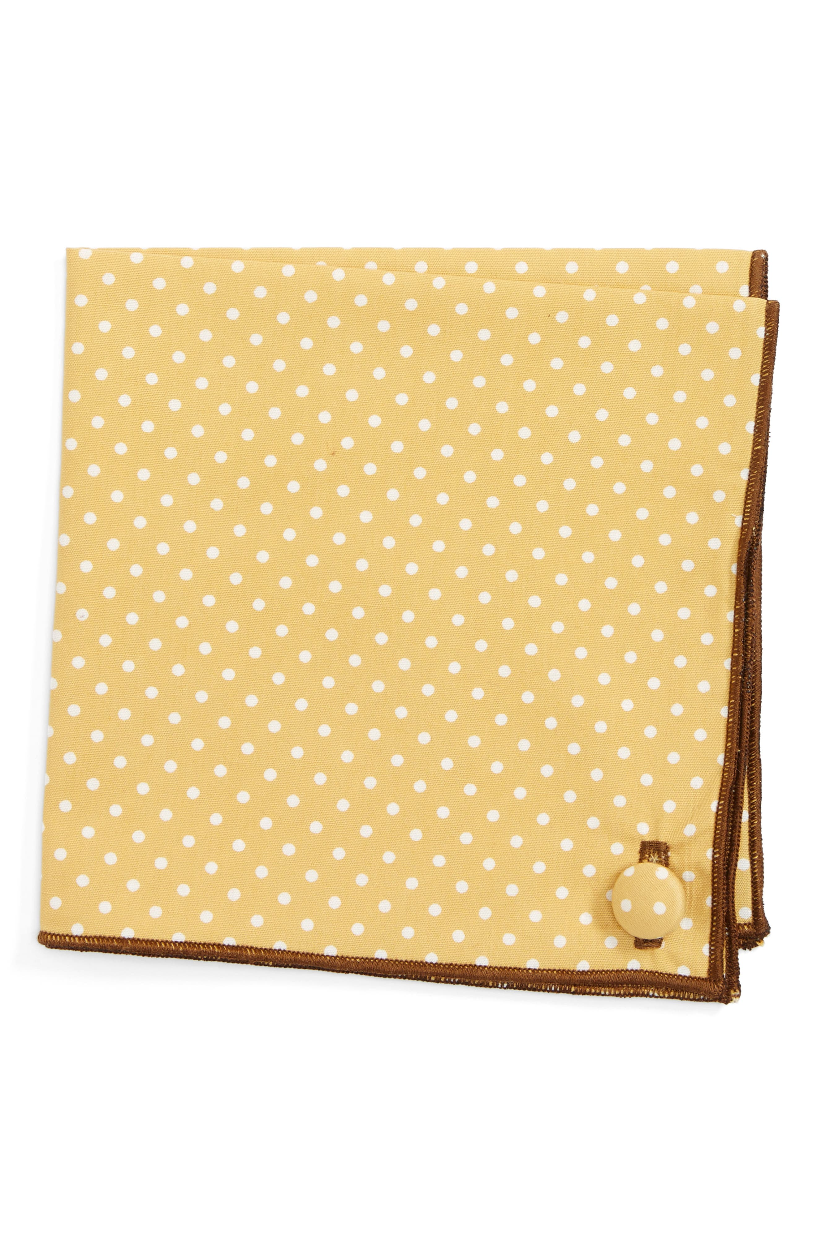 Armstrong & Wilson Bee Hive Cotton Pocket Square
