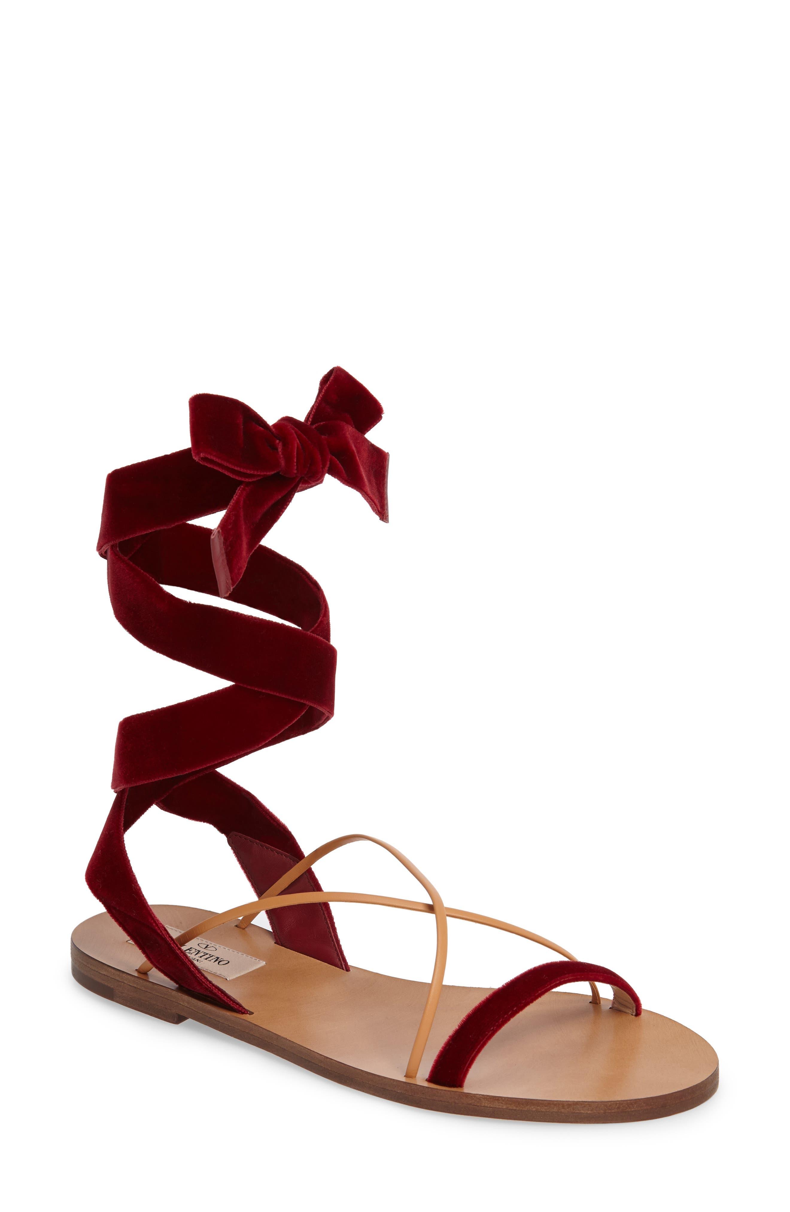 Main Image - Valentino Lace-up Sandal (Women)