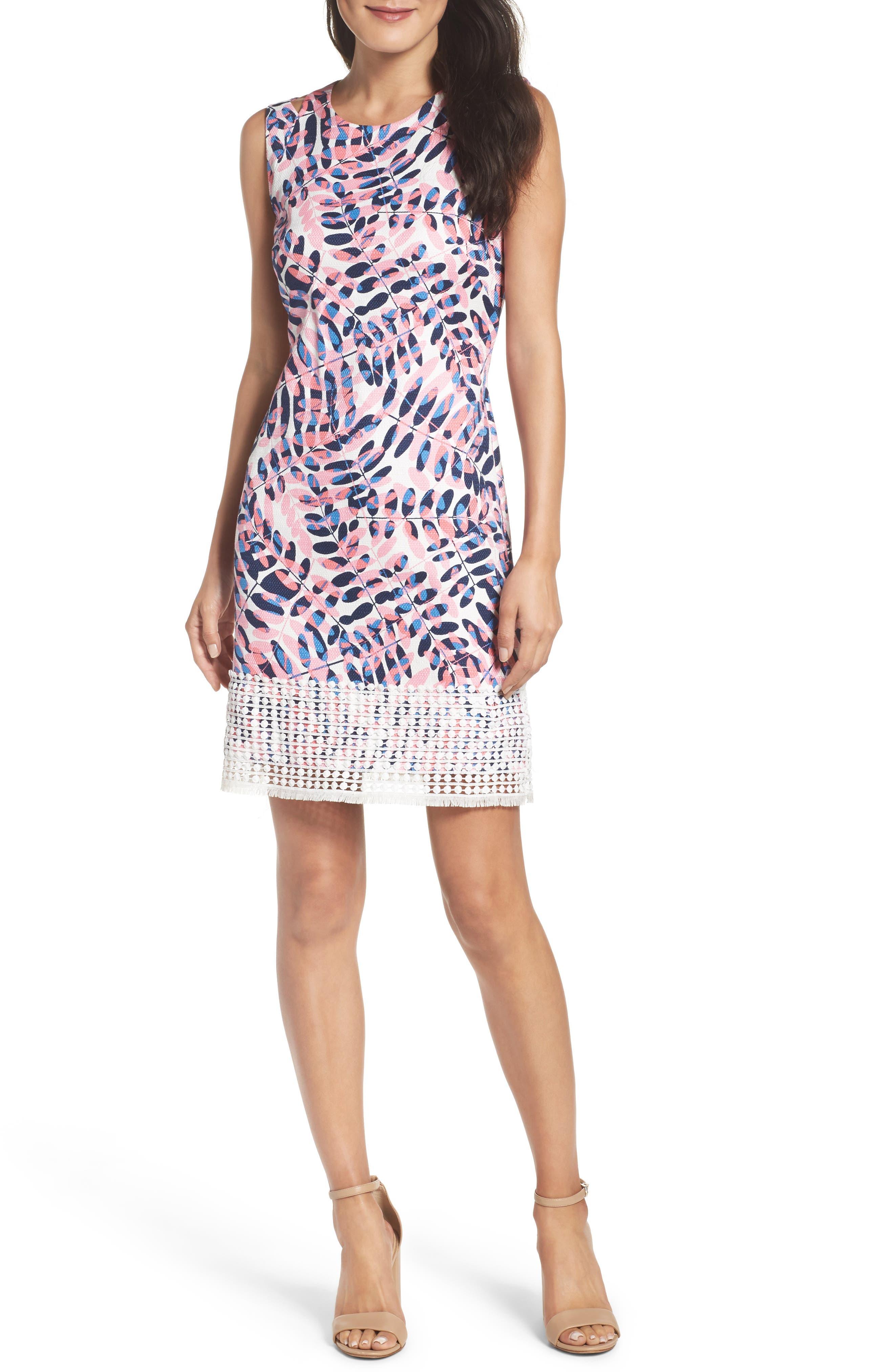 Alternate Image 4  - Taylor Dresses Print Sheath Dress