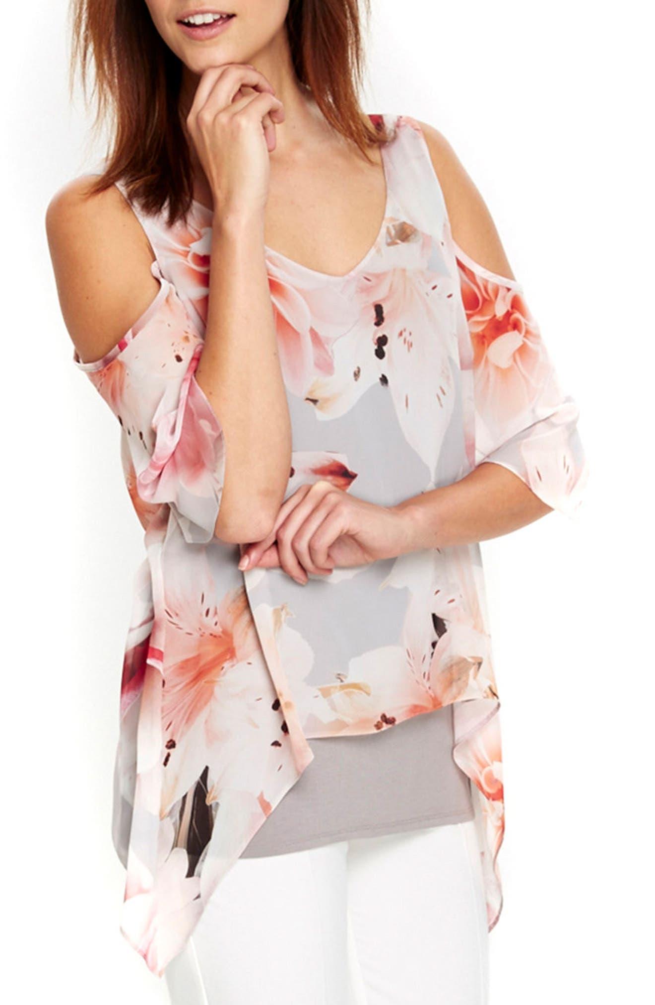 Alternate Image 4  - Wallis Apricot Lily Cold Shoulder Top