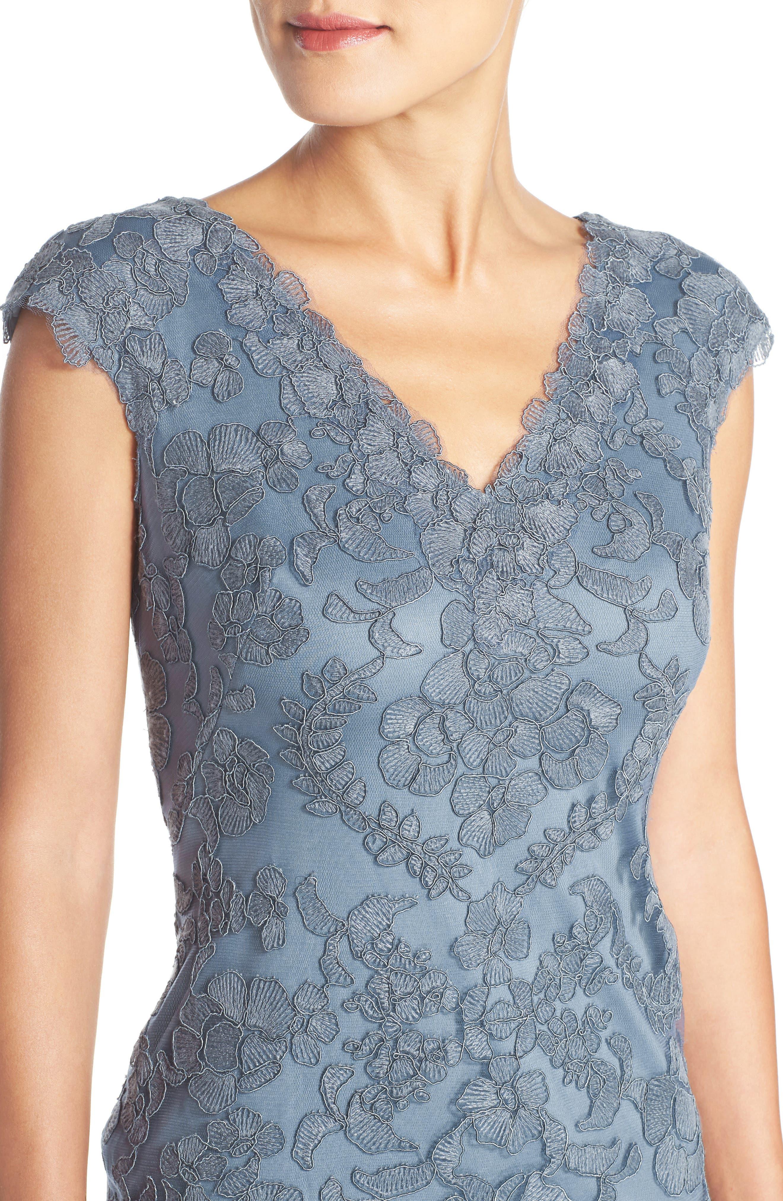 Alternate Image 5  - Tadashi Shoji Embroidered Tulle Sheath Dress