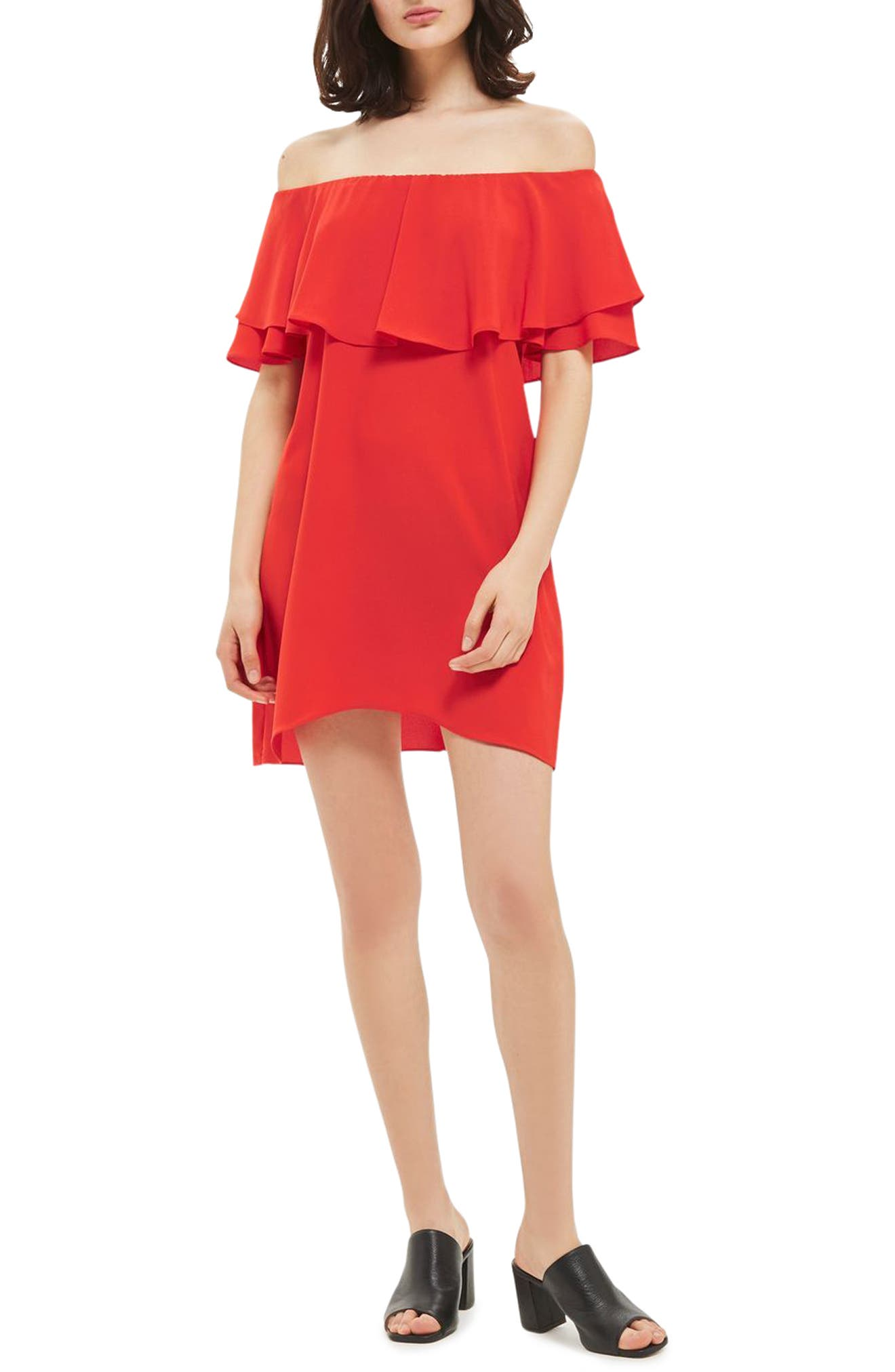 Topshop Bardot Popover Shift Dress
