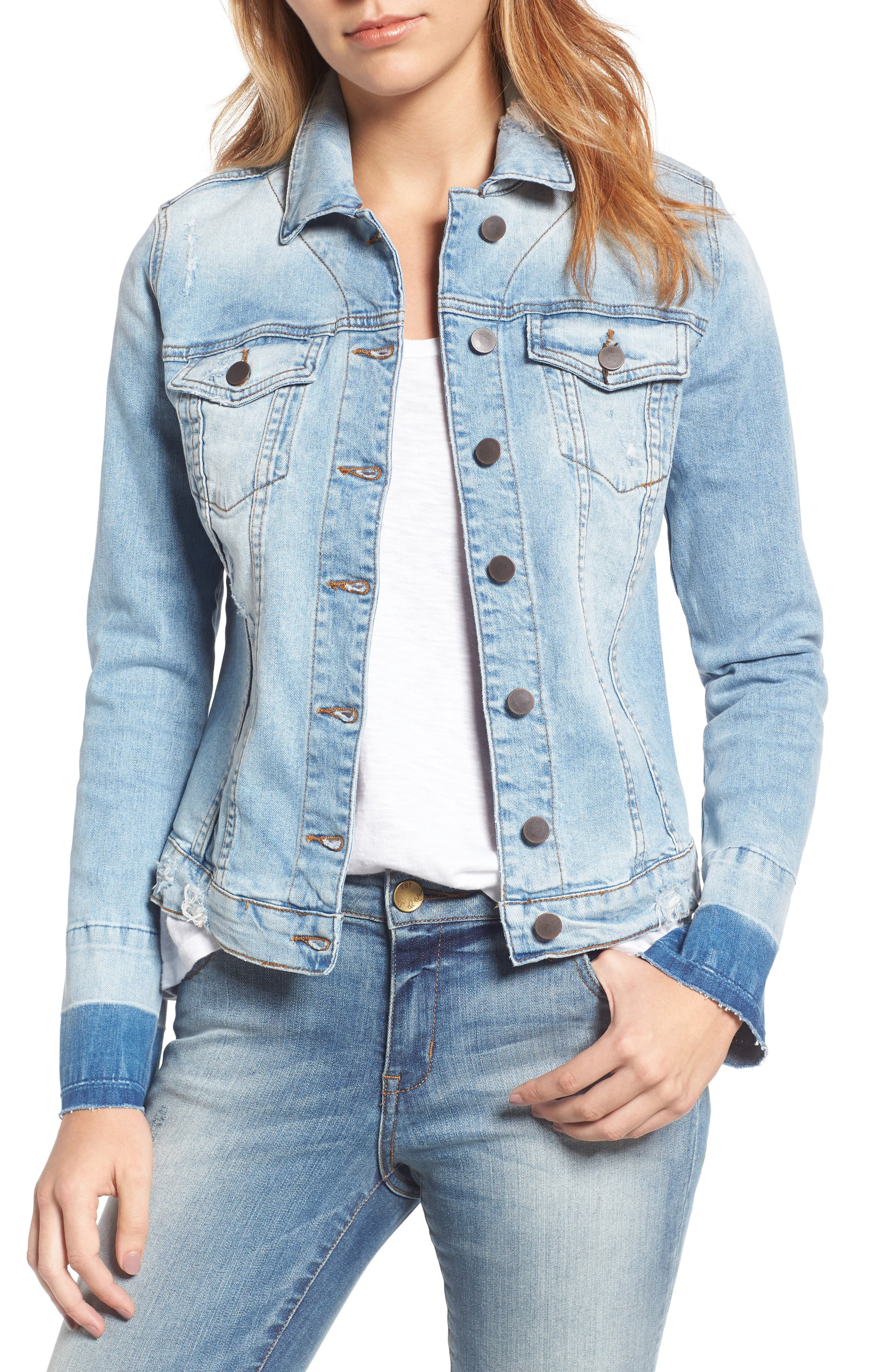 KUT from the Kloth Release Cuff Denim Jacket