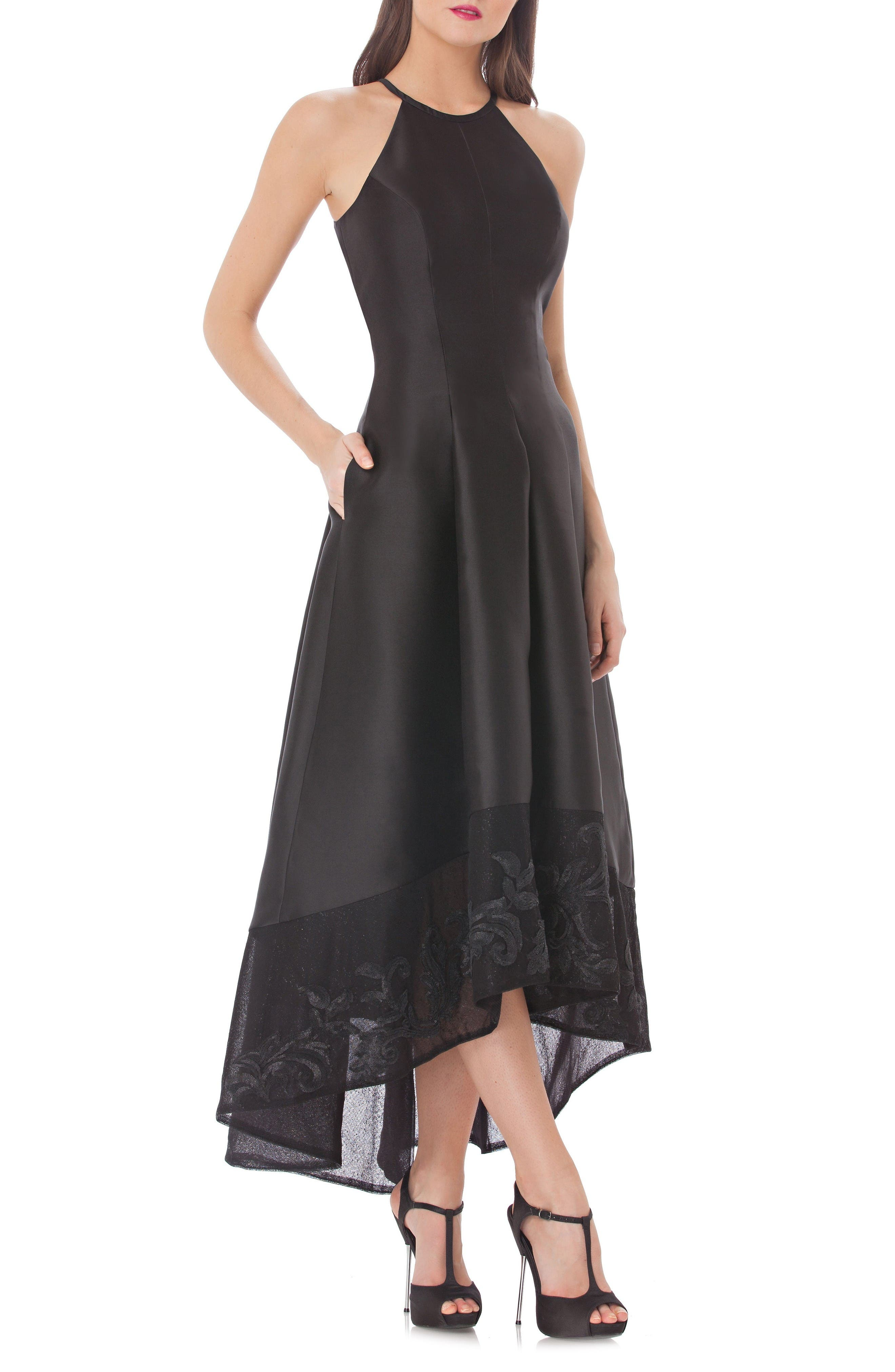 Carmen Marc Valvo Infusion High/Low Mikado Gown