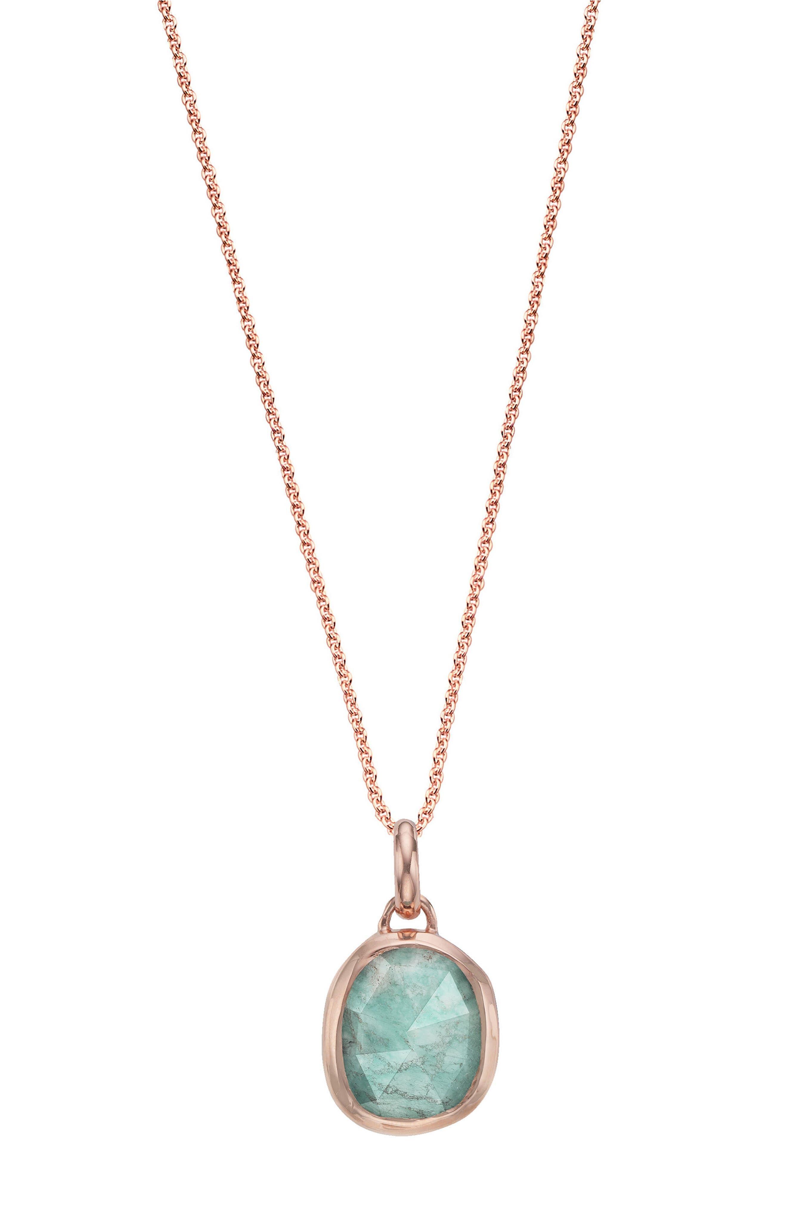 Monica Vinader Siren Semiprecious Stone Pendant Necklace (Nordstrom Exclusive)