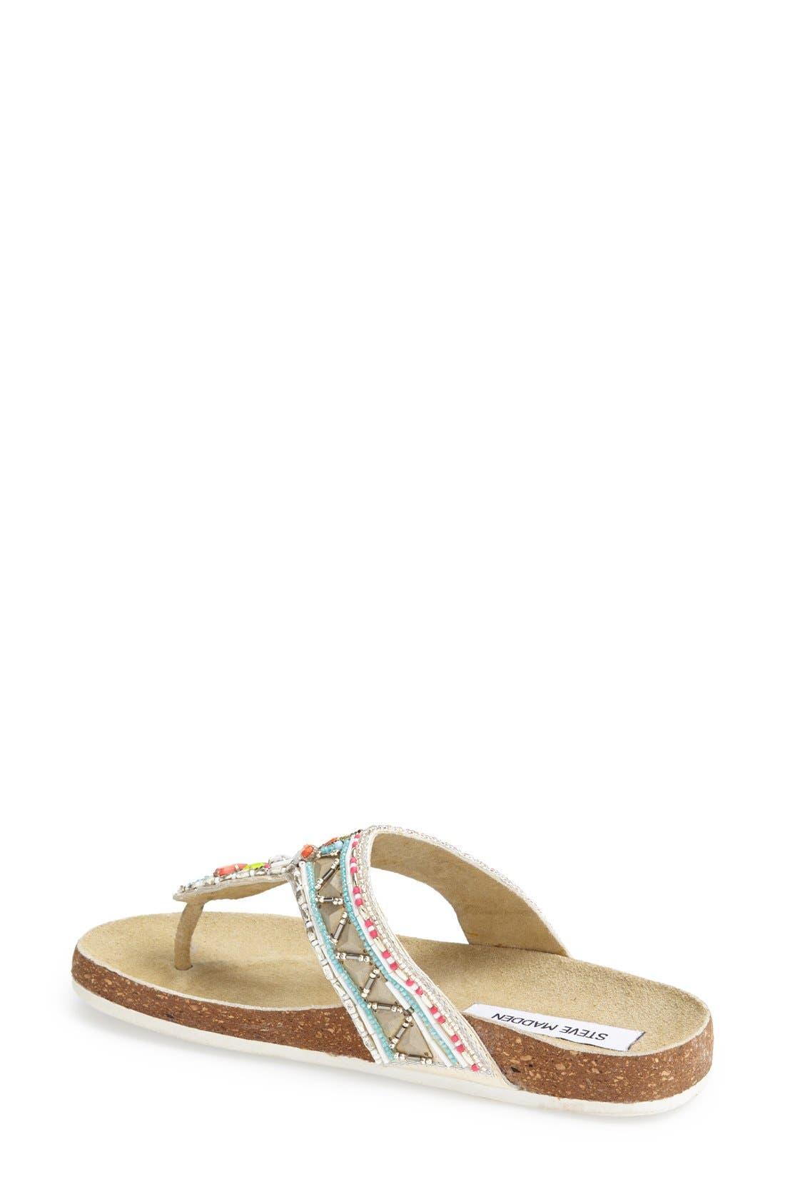 Alternate Image 2  - Steve Madden 'Fiessta' Embellished Thong Sandal (Women)