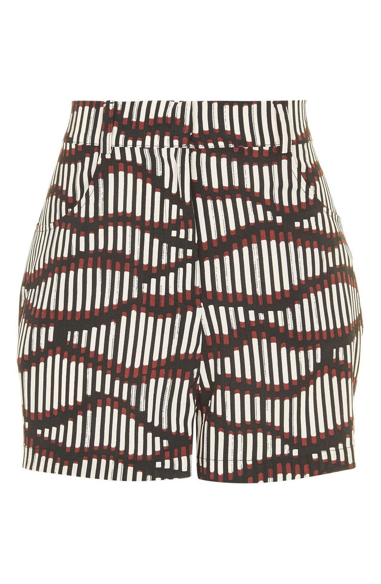 Alternate Image 5  - Topshop Matchstick Print Shorts